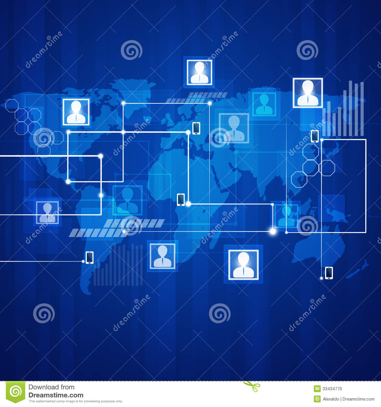 Communications Blue Background Stock Illustration ...