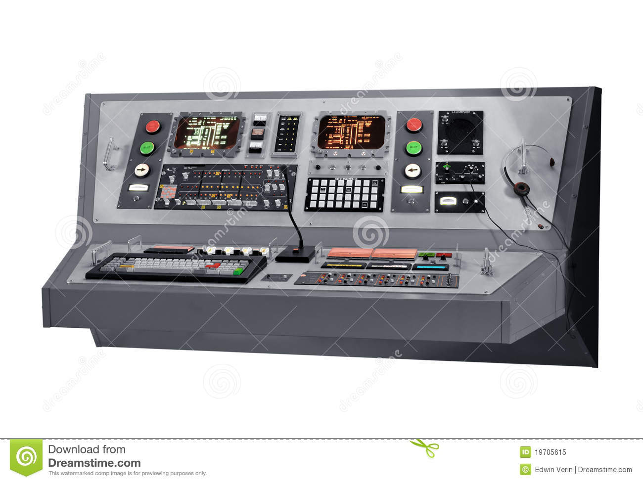 Tractor Technology Panel : Communications equipment panel royalty free stock photo