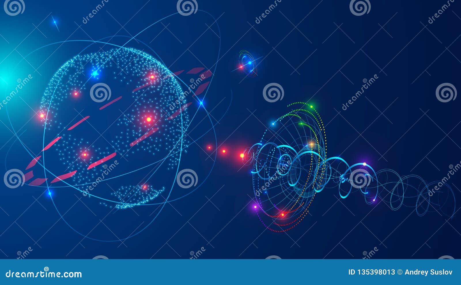 Communications Satellite In Space Orbit Earth Satellite