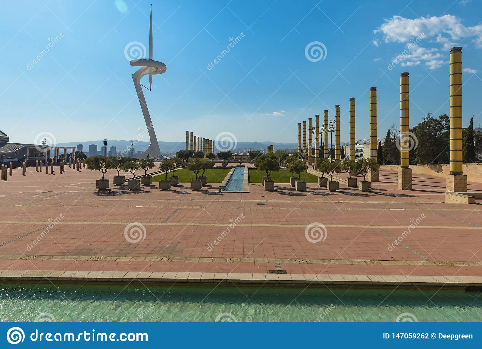 Communications Tower, Barcelona, Spain  Editorial Photography