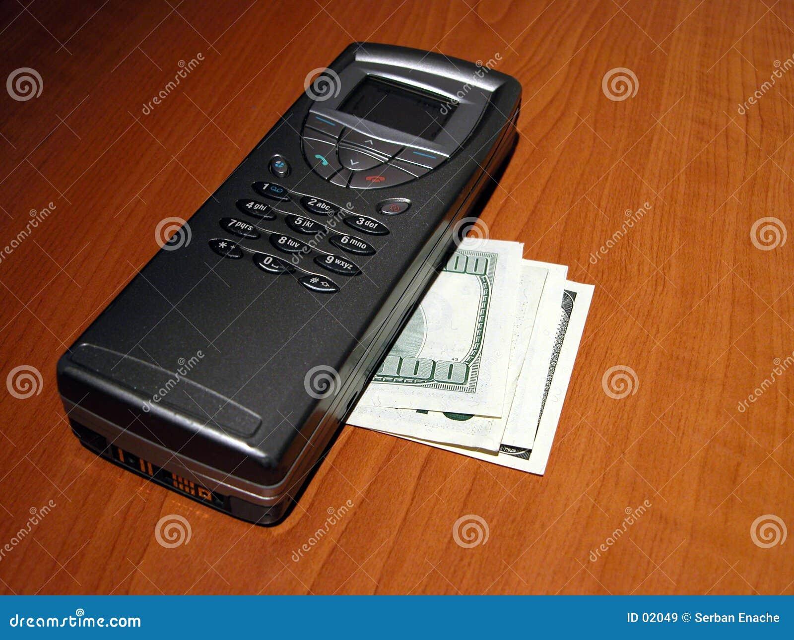 Communicator and $100 bills