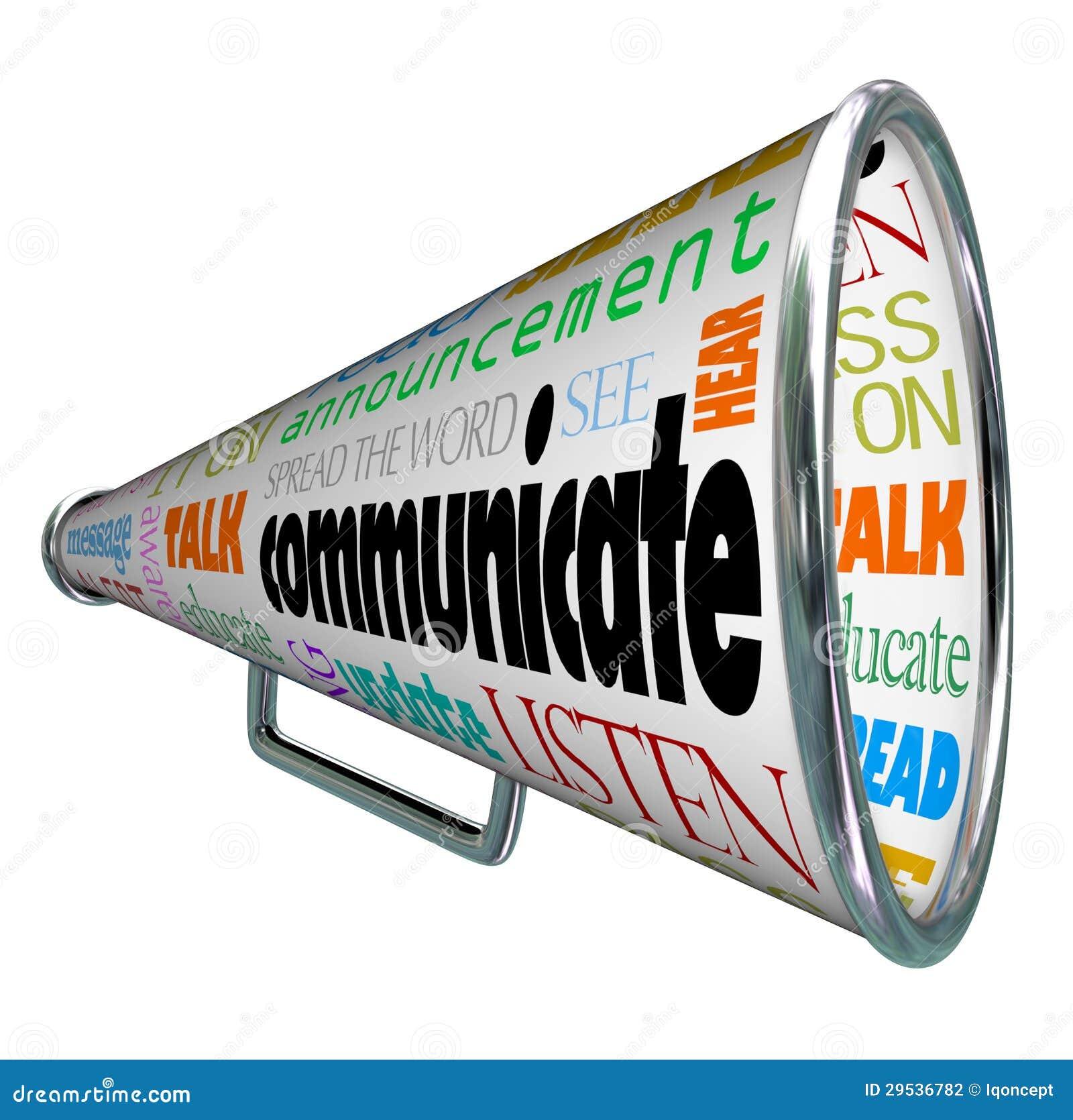 Communiceer de Megafoonmegafoon het Woord uitspreidde