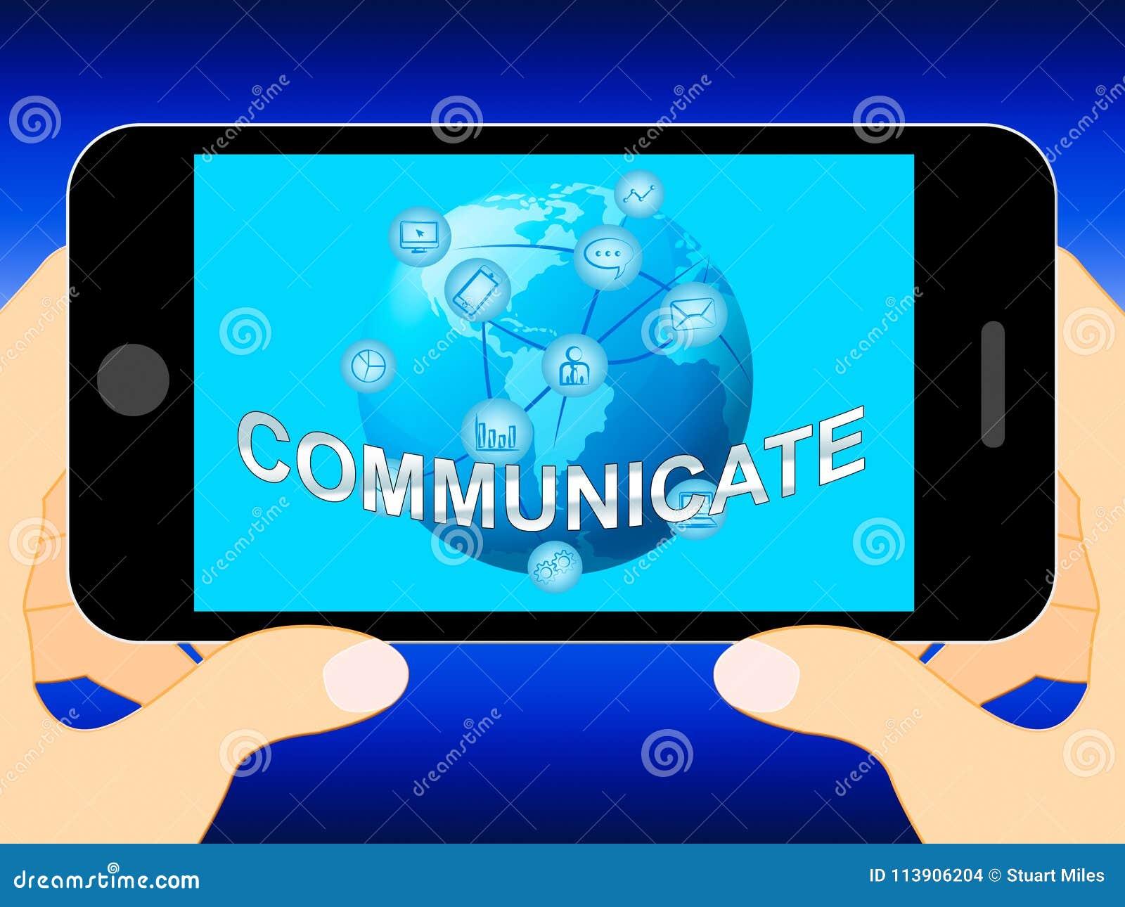 Communiceer toont Globale Mededelingen en Verbindingen 3d Illus