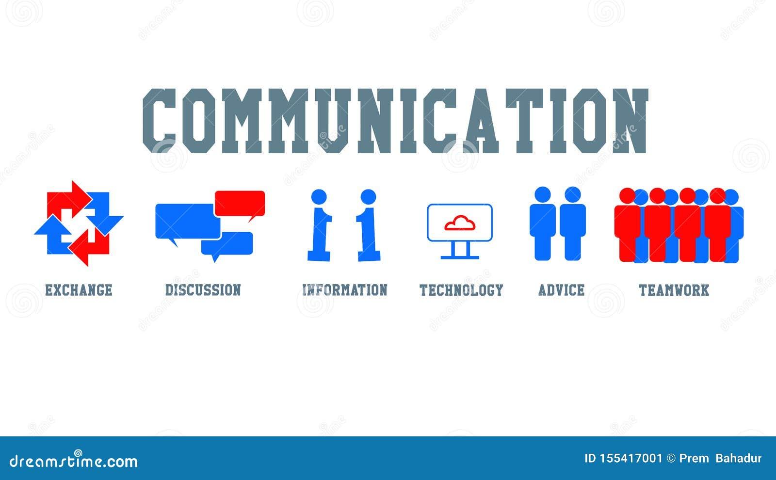 Communiction ikona i pojęcie
