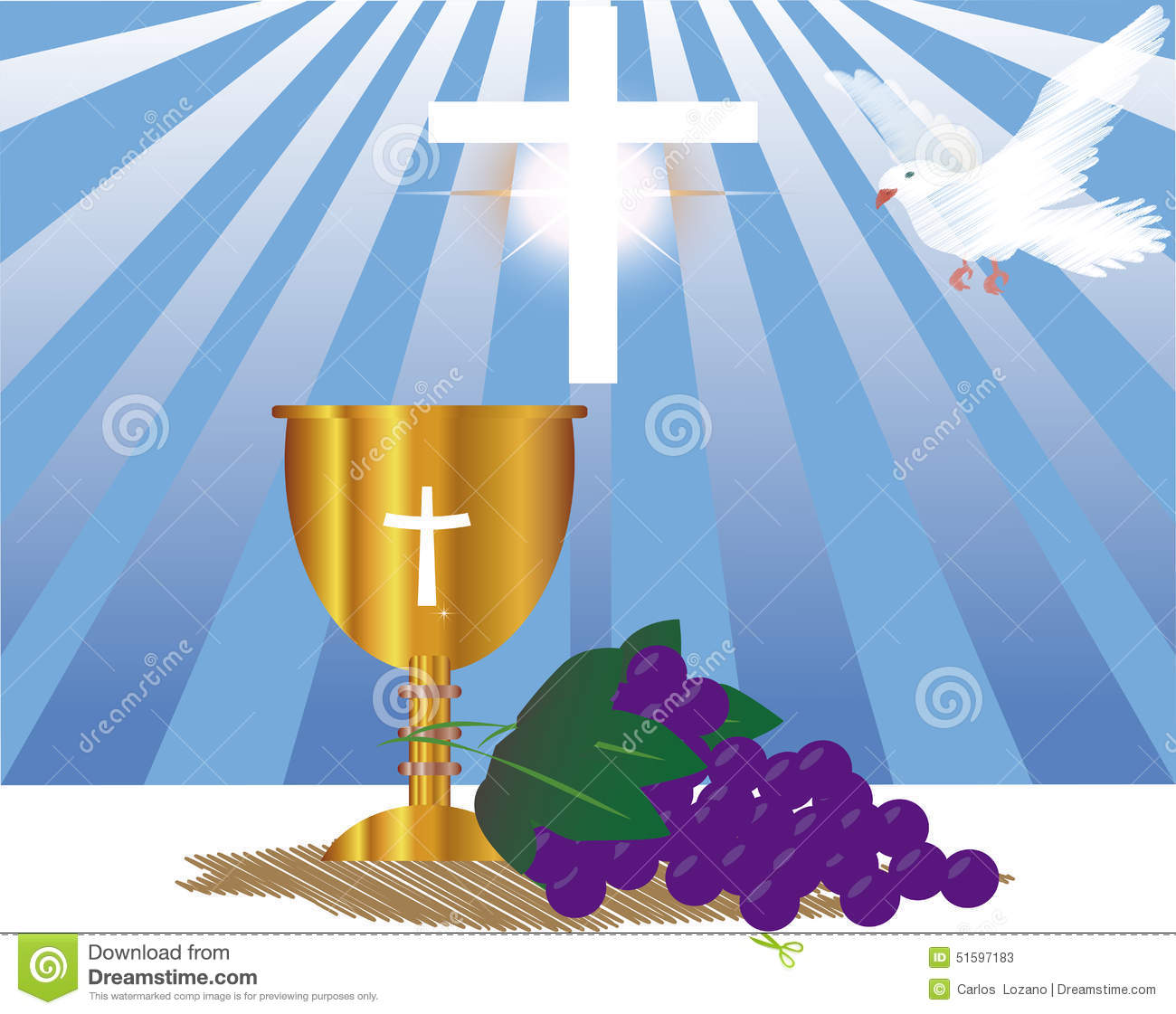 communion card template stock photo