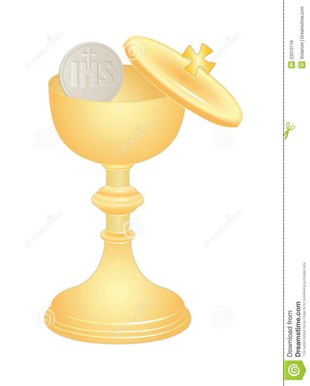 Communion Cup Stock Vector Image Of Bread Catholic