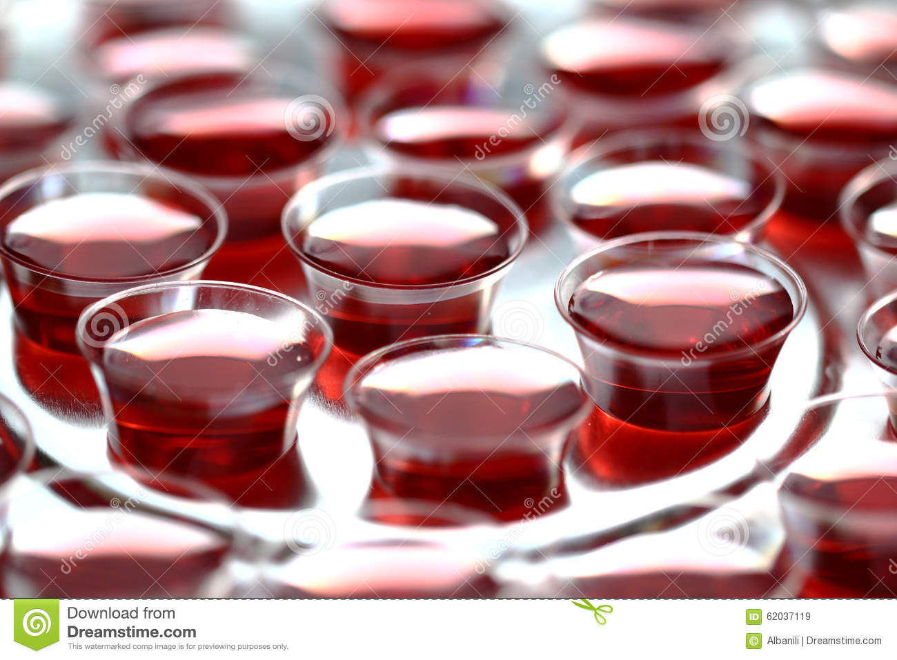 Communion Cups With Red Wine Stock Image Image 62037119