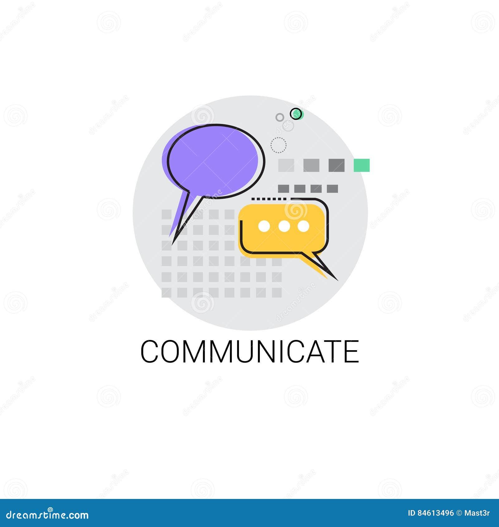 Communiquez l icône sociale de message de communication de réseau de causerie