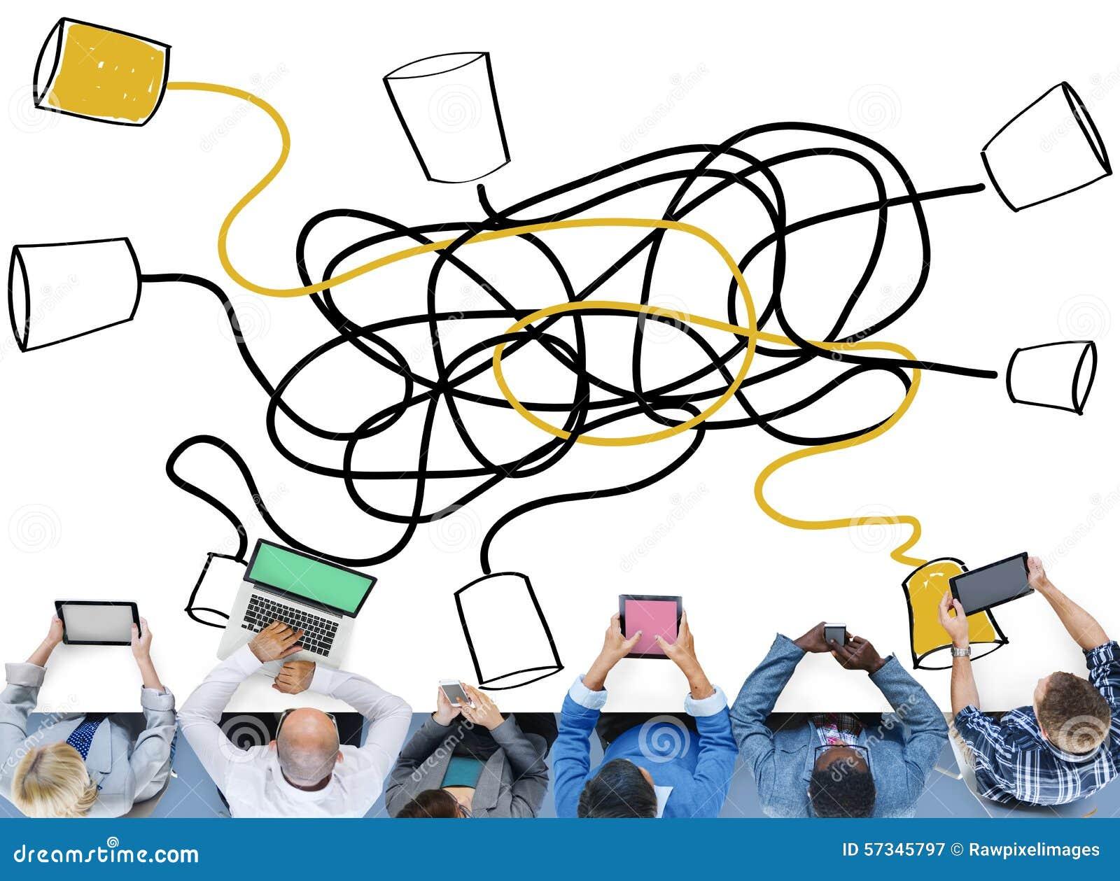 Communiquez la connexion de télécommunication de communication appelle C