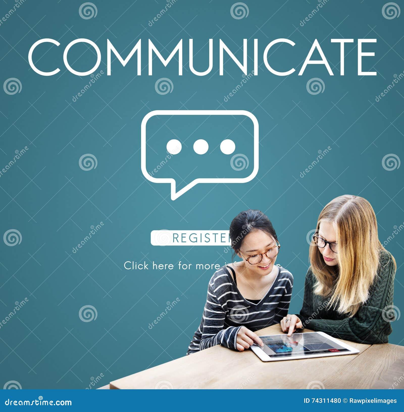 Communiquez le concept de connexion de technologie de la parole