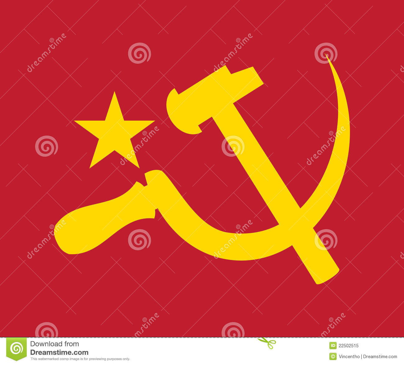 Communism Communist Logo Symbol Illustration Stock Vector
