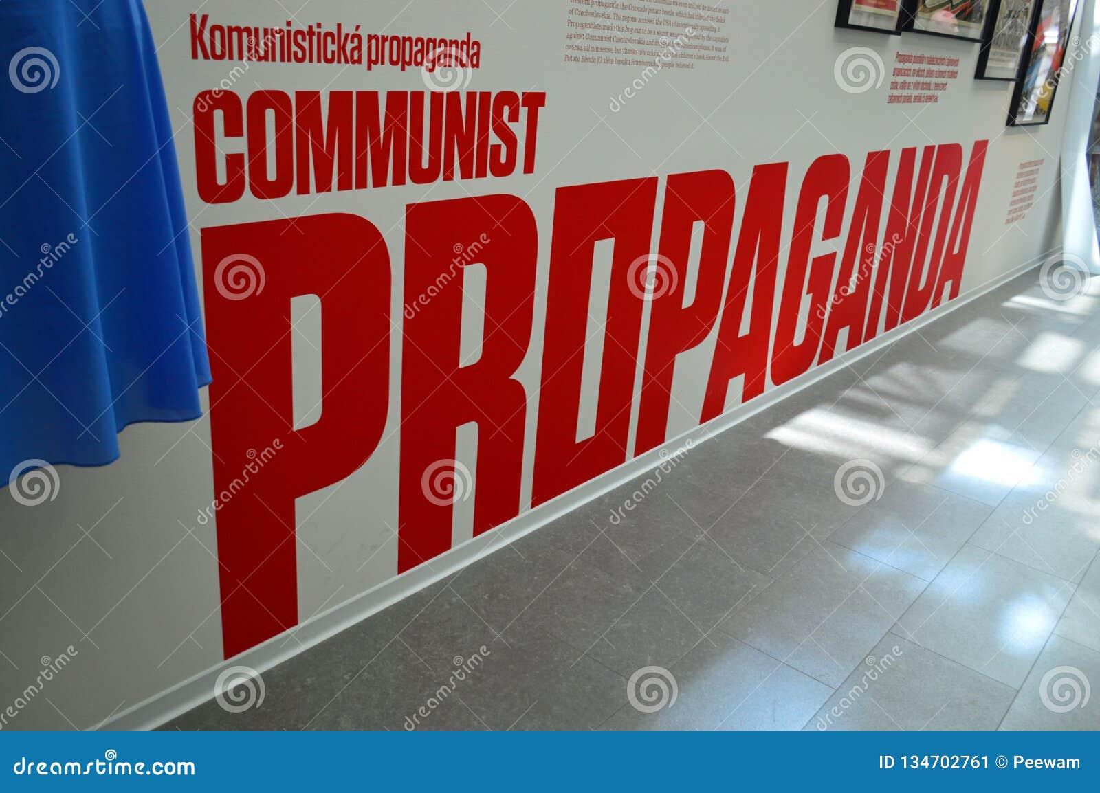 Communist artefacts - Propaganda sign - Museum Prague