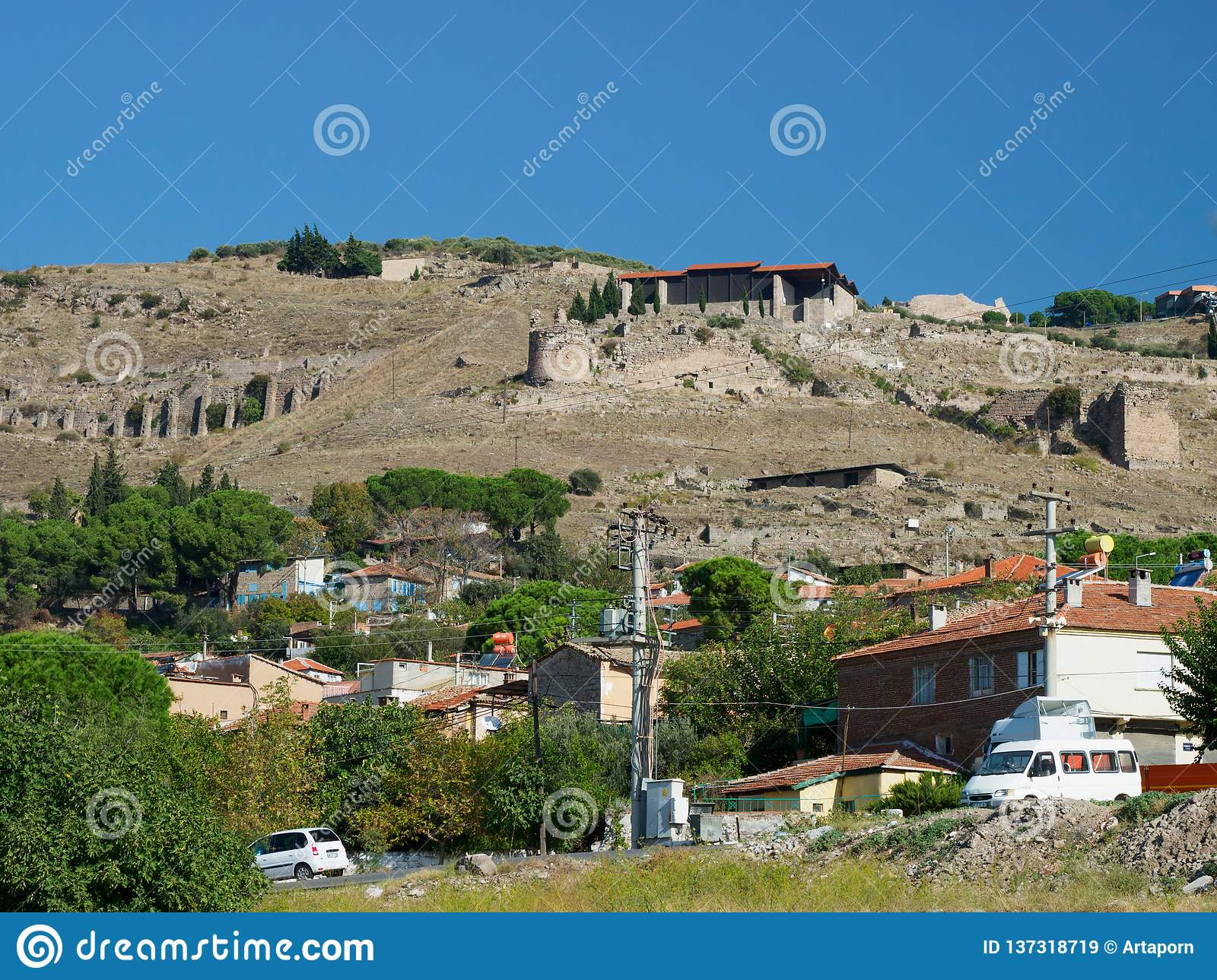 The community in the ancient city of Pergamum in the Acropolis area.