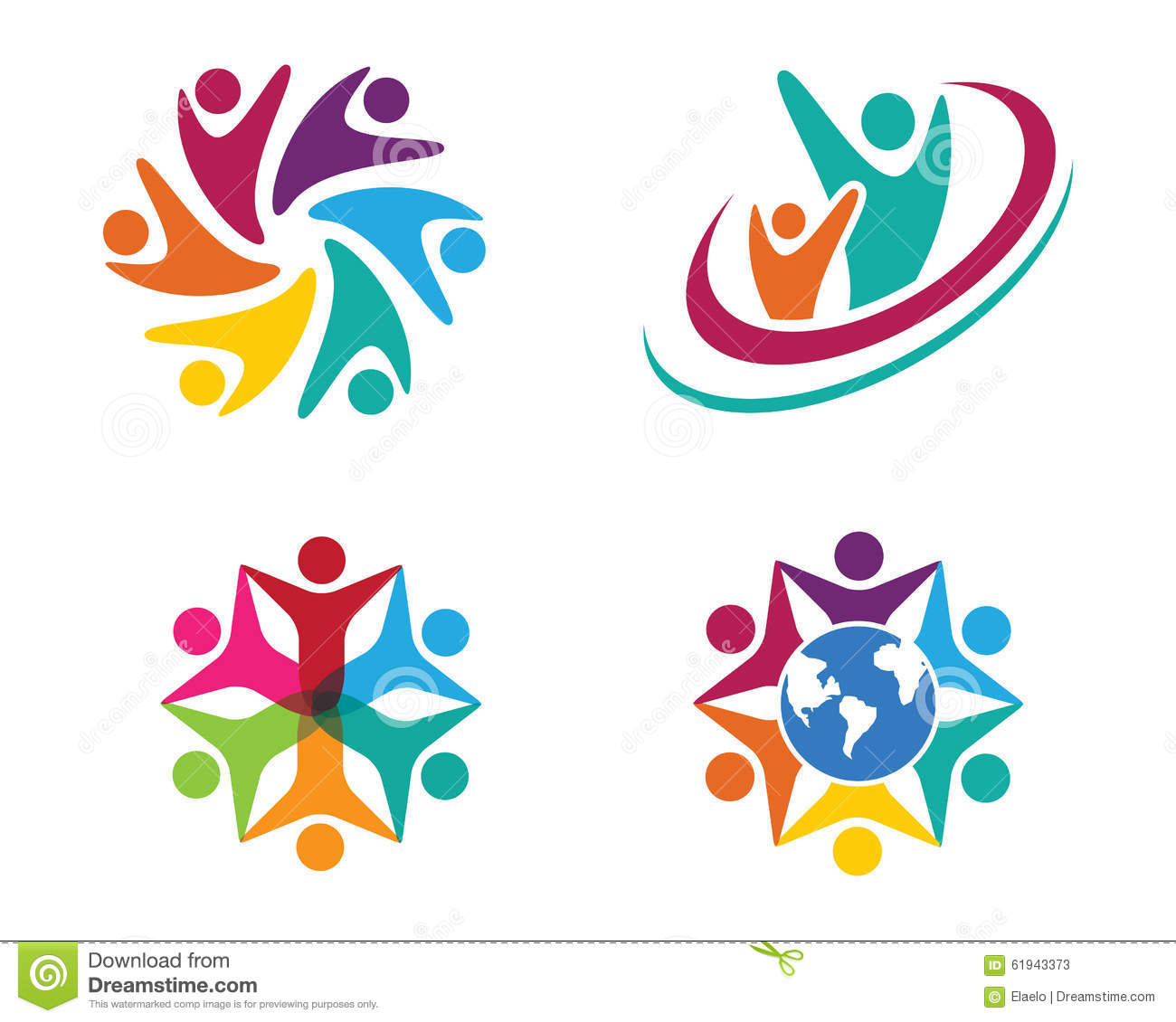 Collection Of People Icons In Circle - Vector Concept Engagement ...