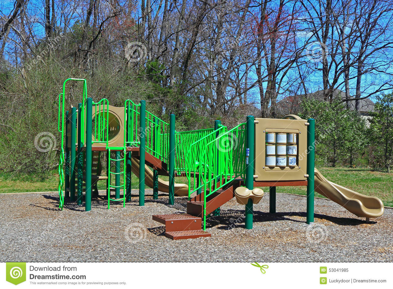 Stock Photo: Community Children Playground: dreamstime.com/stock-photo-community-children-playground-slides...