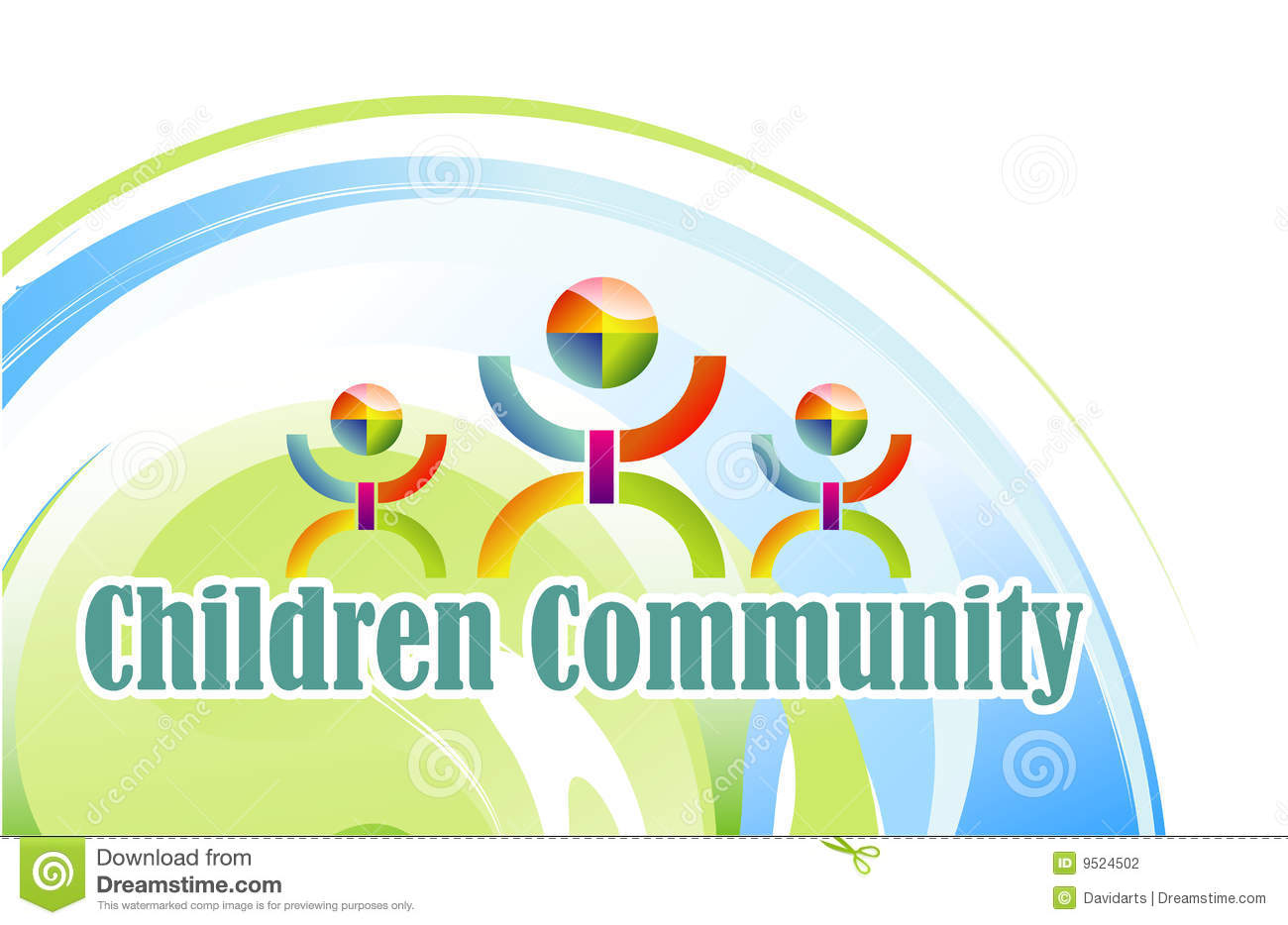 Community Children Symbol Stock Photography - Image: 9524502