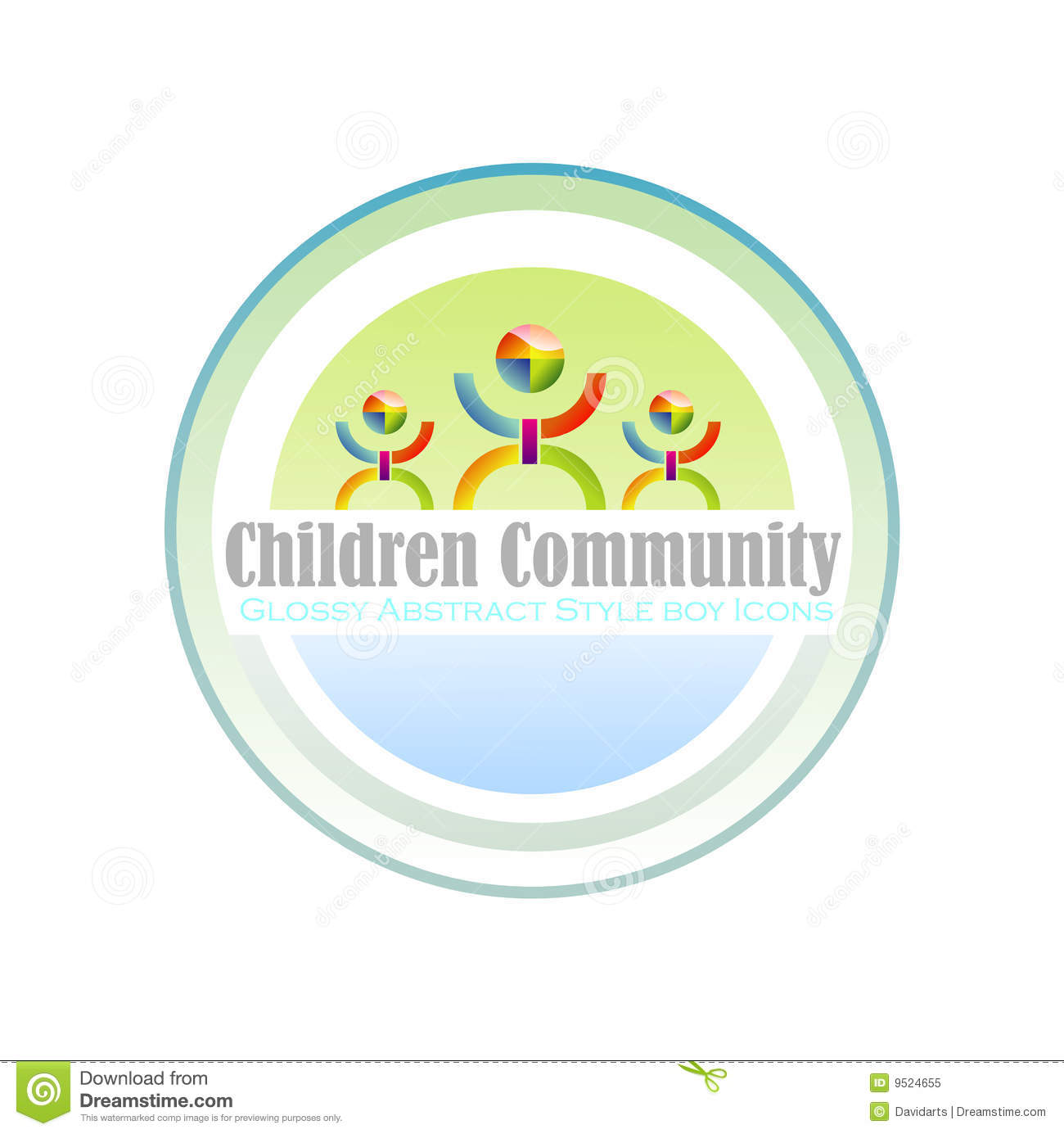Community Children Symbol Royalty Free Stock Photo - Image: 9524655