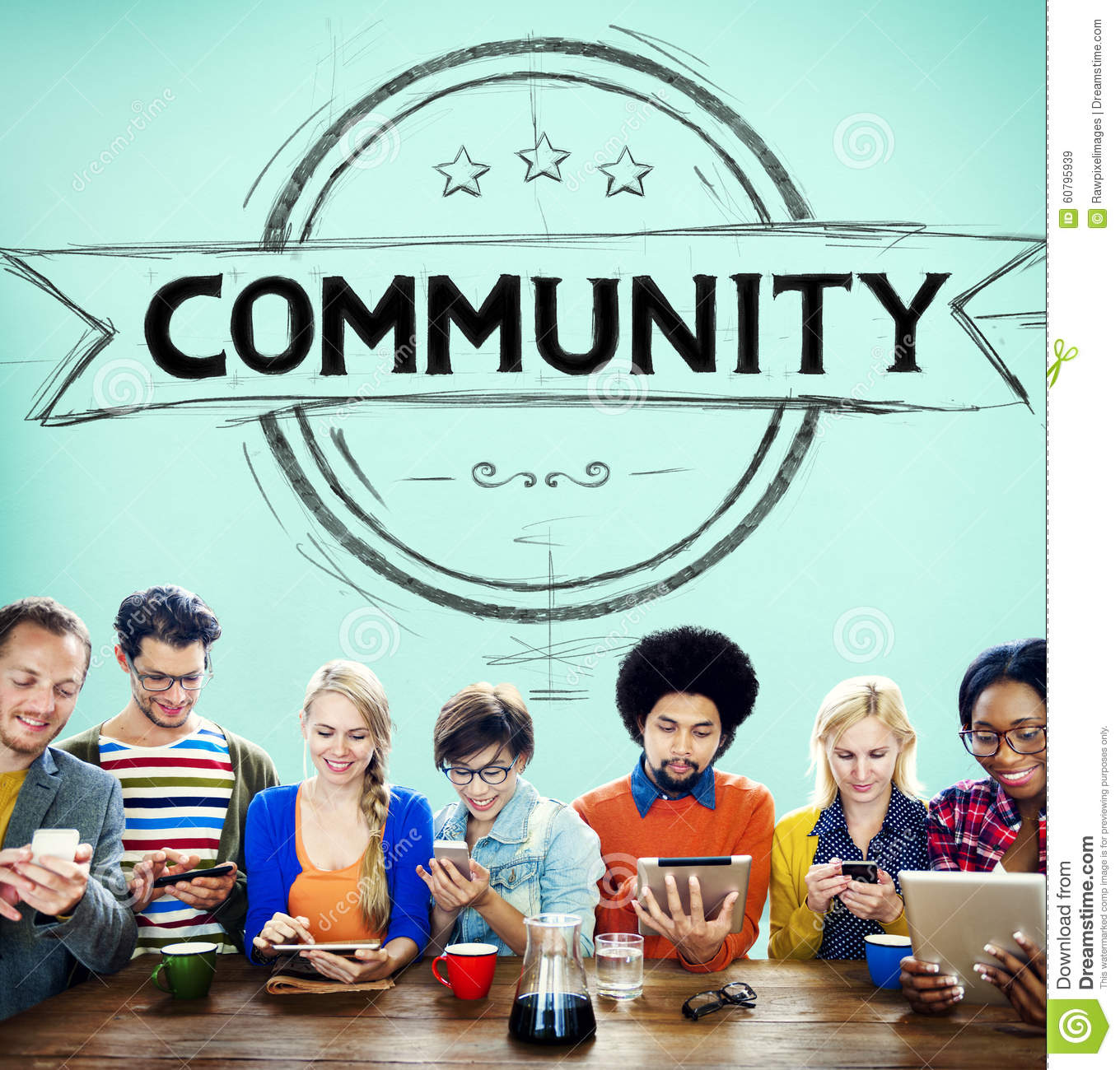 Community Citizen Diversity Connection Communication Concept Stock ...