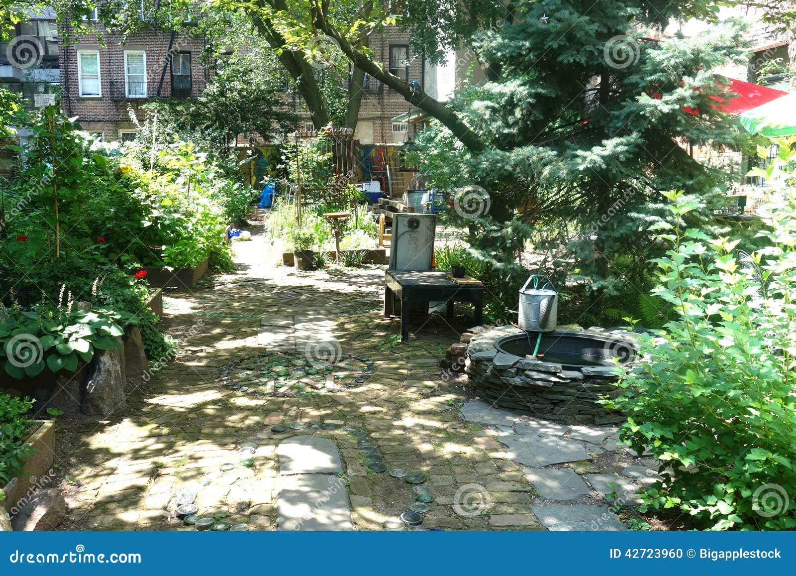New York City Community Garden Editorial Image Image 42723960