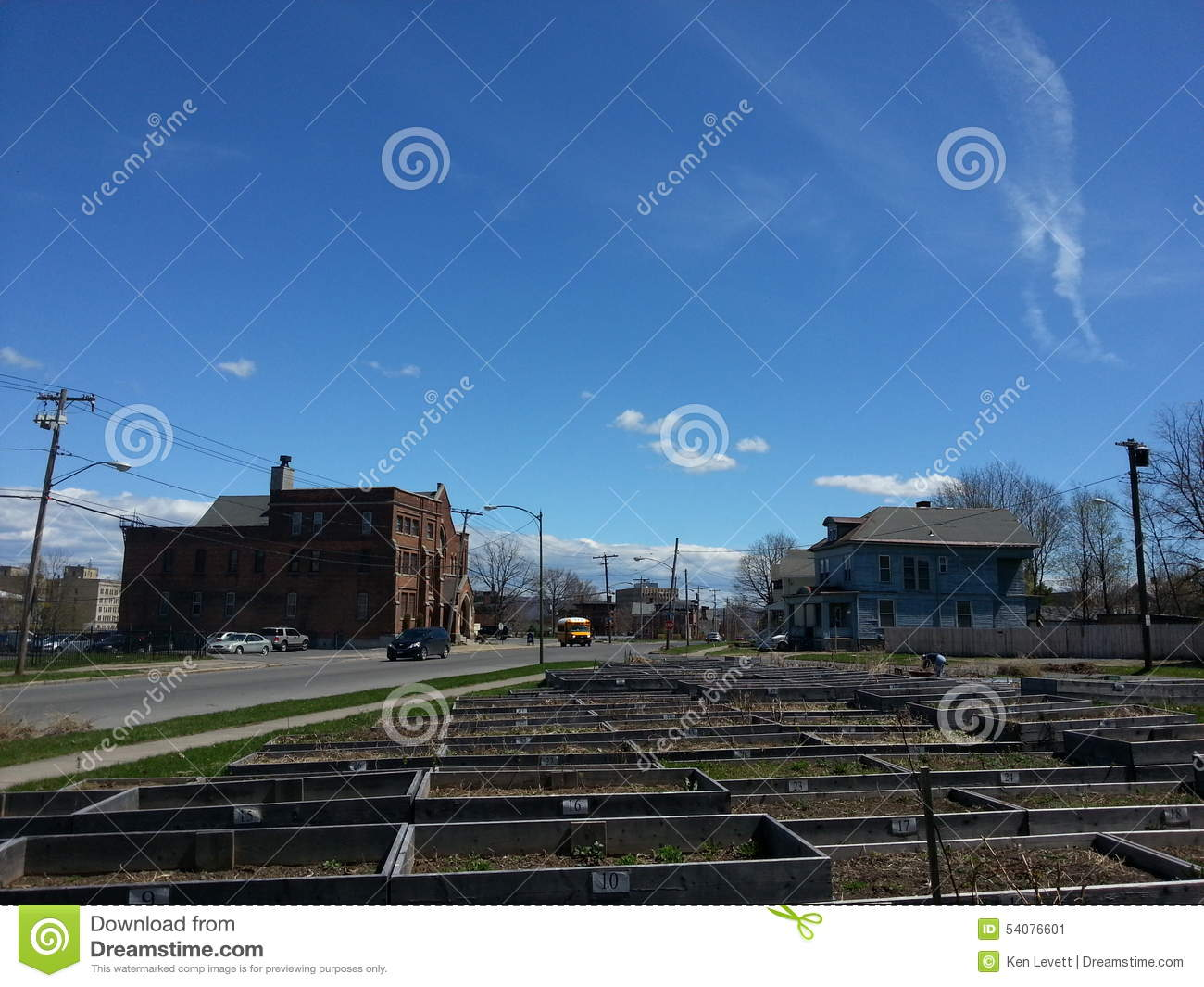 Stock Photo: Community garden: dreamstime.com/stock-photo-community-garden-park-avenue-utica-ny...