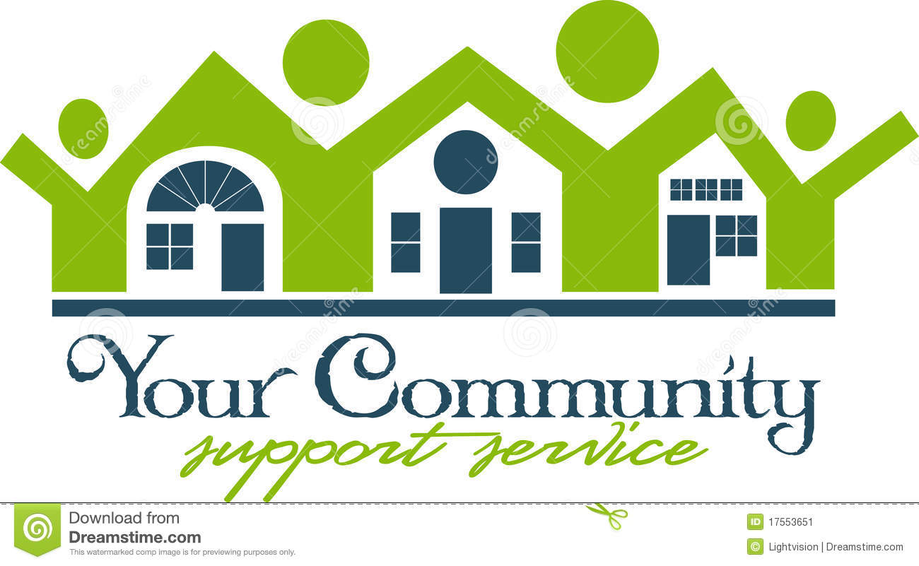 Community House And People Icon Stock Image - Image: 17553651