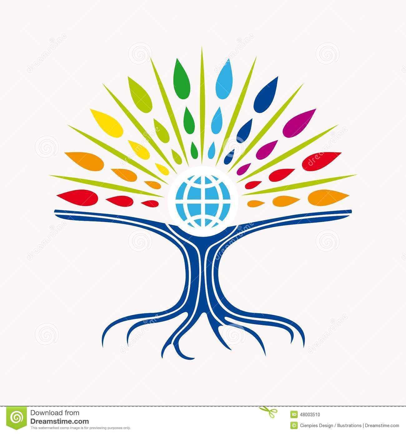 Community Manager Education World Tree Concept Stock ...