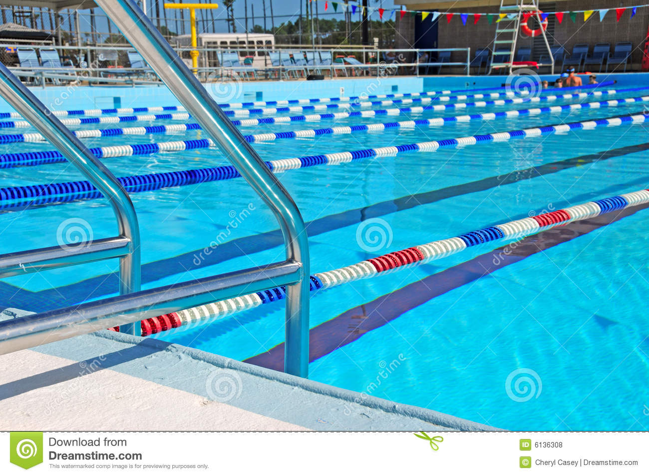 Community Swimming Pool Royalty Free Stock Image 53528830