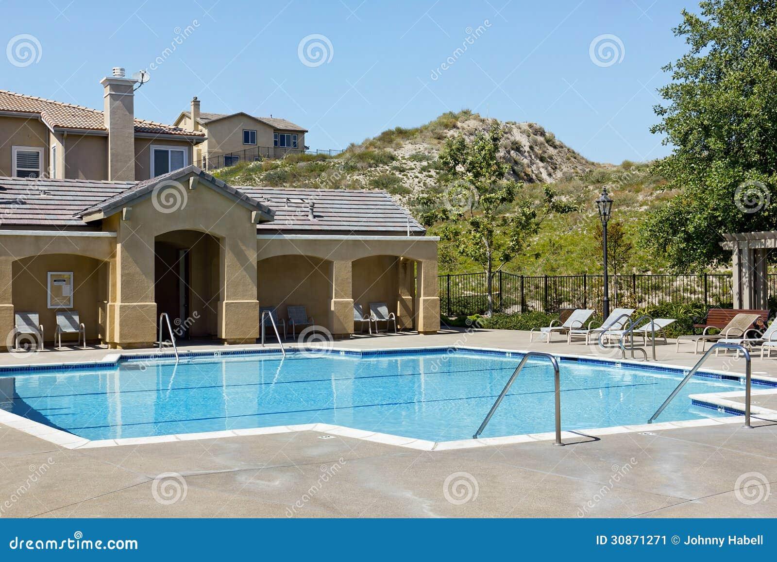 Community Swimming Pool Royalty Free Stock Image 53528830