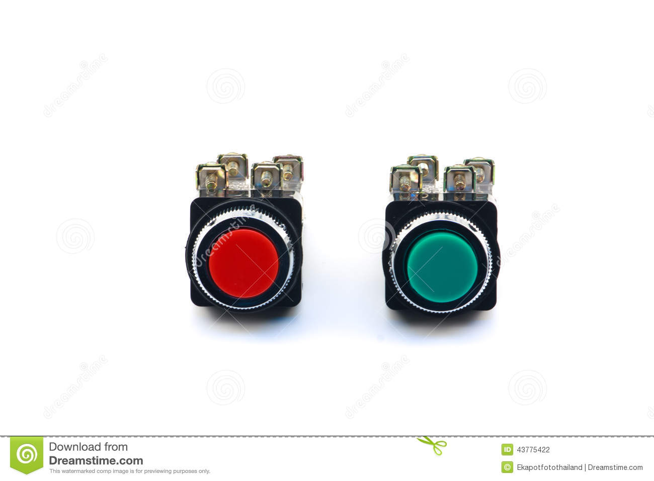 Commutateur de bouton poussoir photo stock image 43775422 for Combouton poussoir urinoir