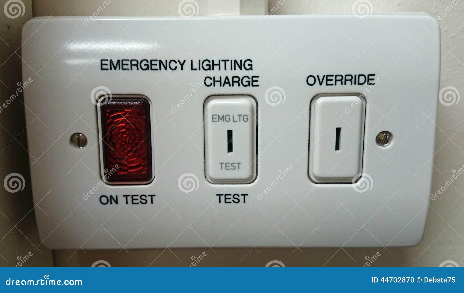 Commutatore di illuminazione di emergenza fotografia stock