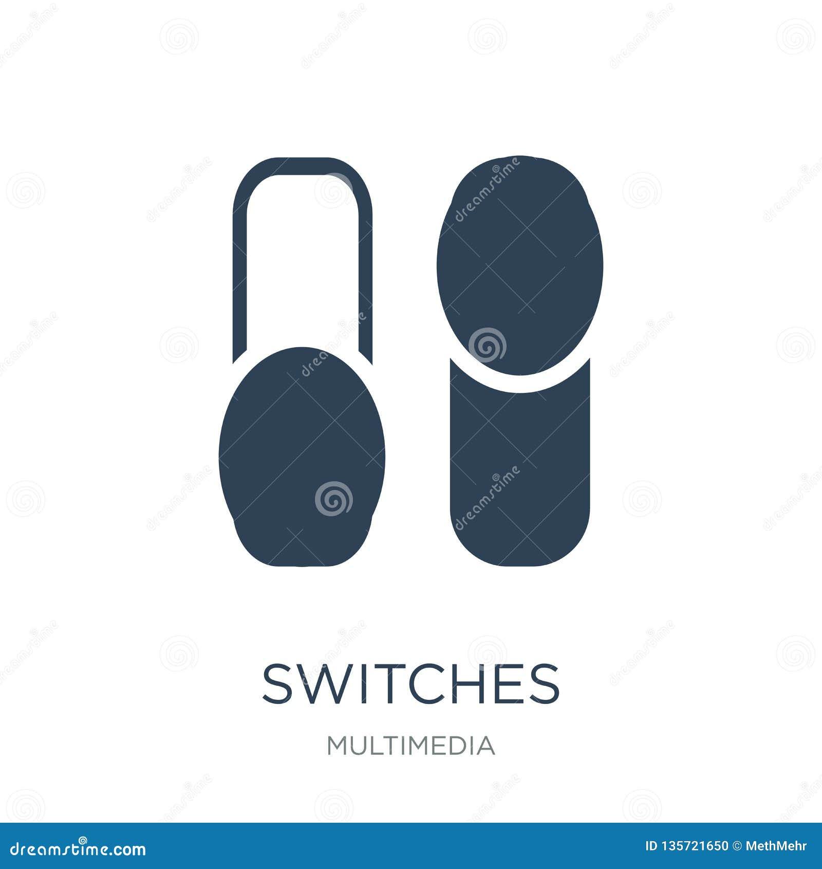 Commute l icône dans le style à la mode de conception icône de commutateurs d isolement sur le fond blanc appartement simple et m