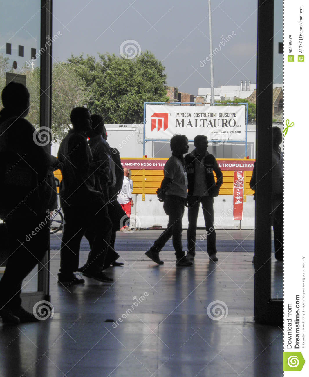 Imprese Di Costruzioni Roma commuters in rome editorial stock photo. image of railway