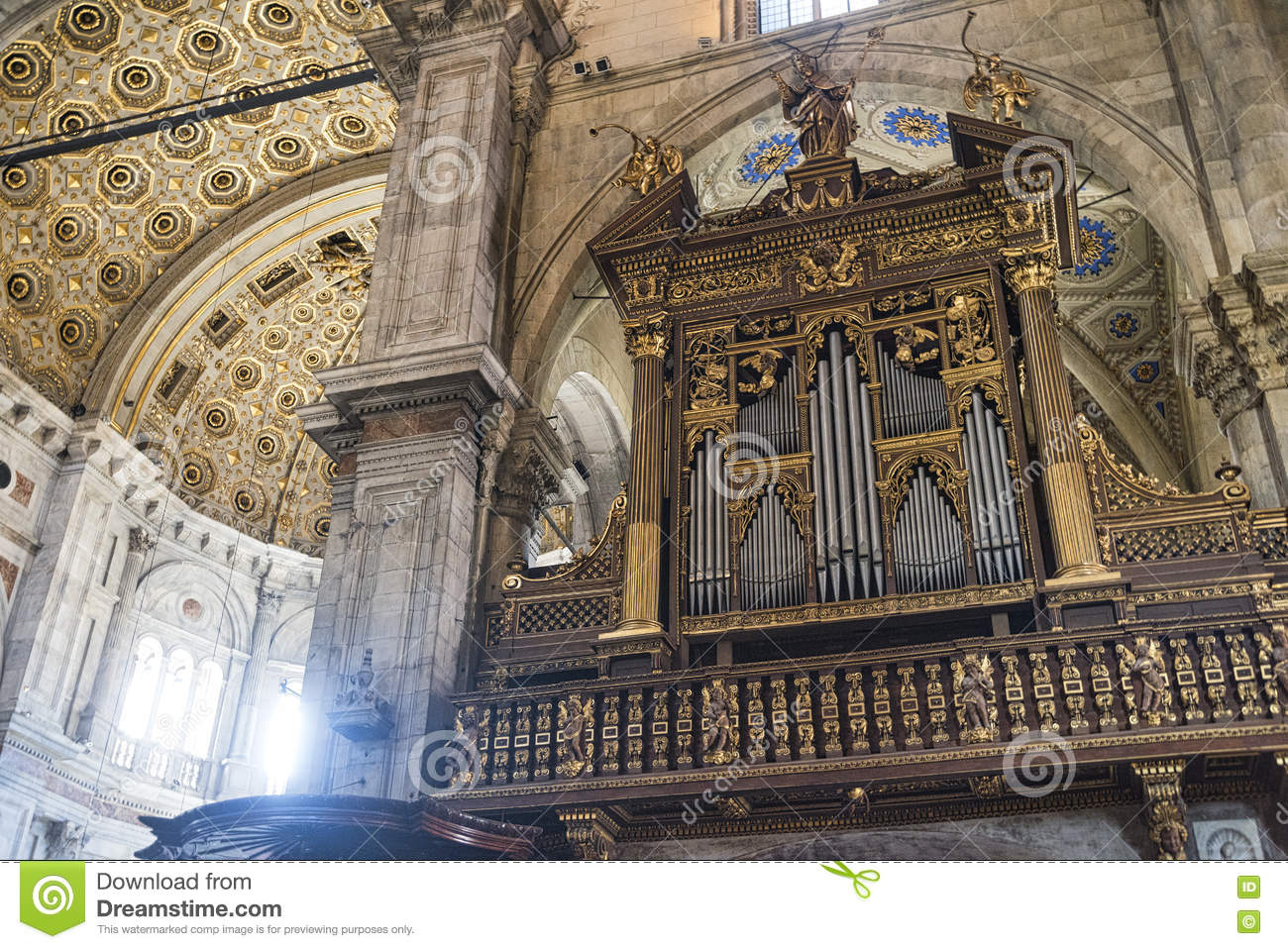 Como (Lombardy, Italy) Cathedral Interior Stock Photo