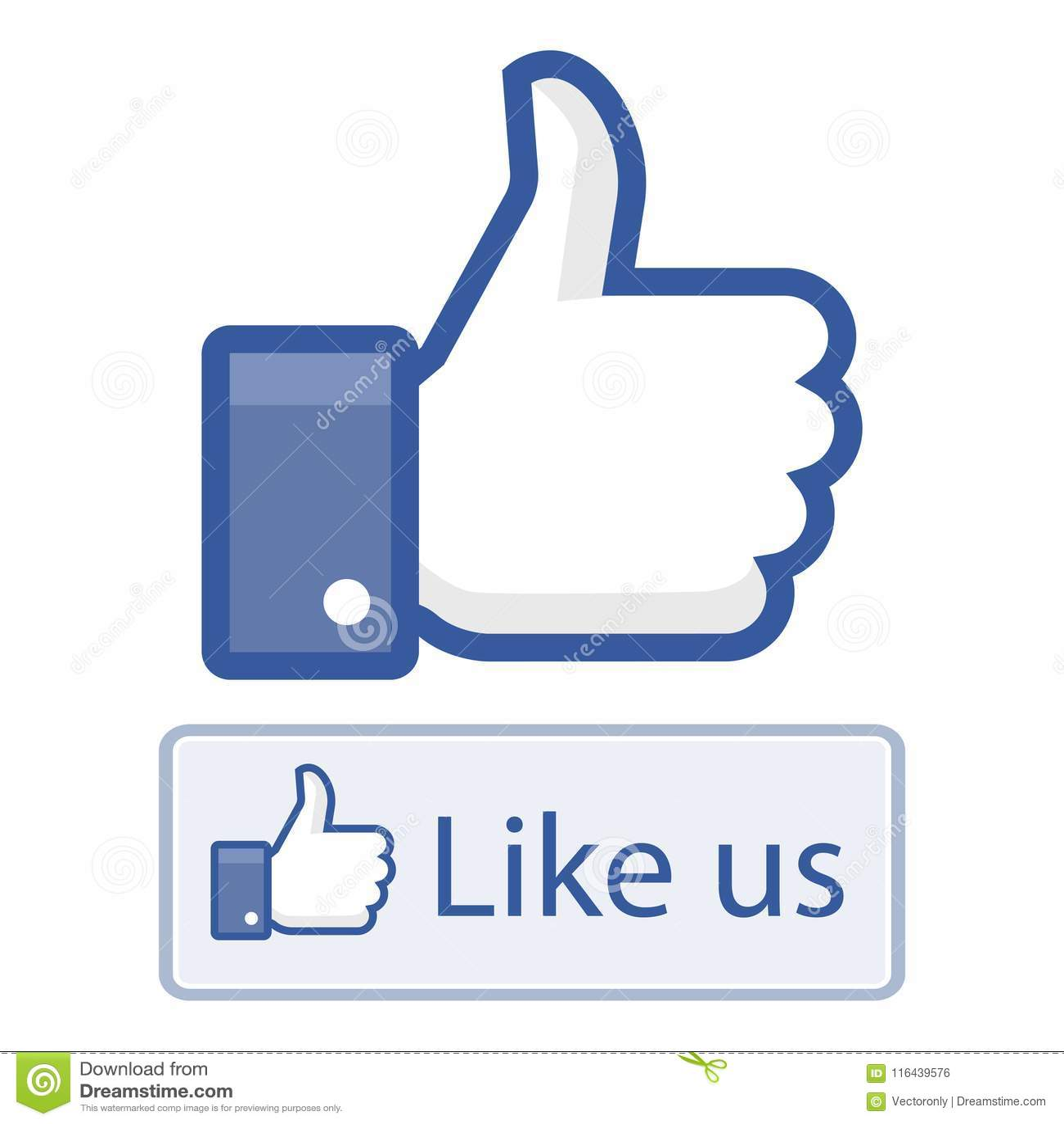 Como nós nos polegares do facebook acima