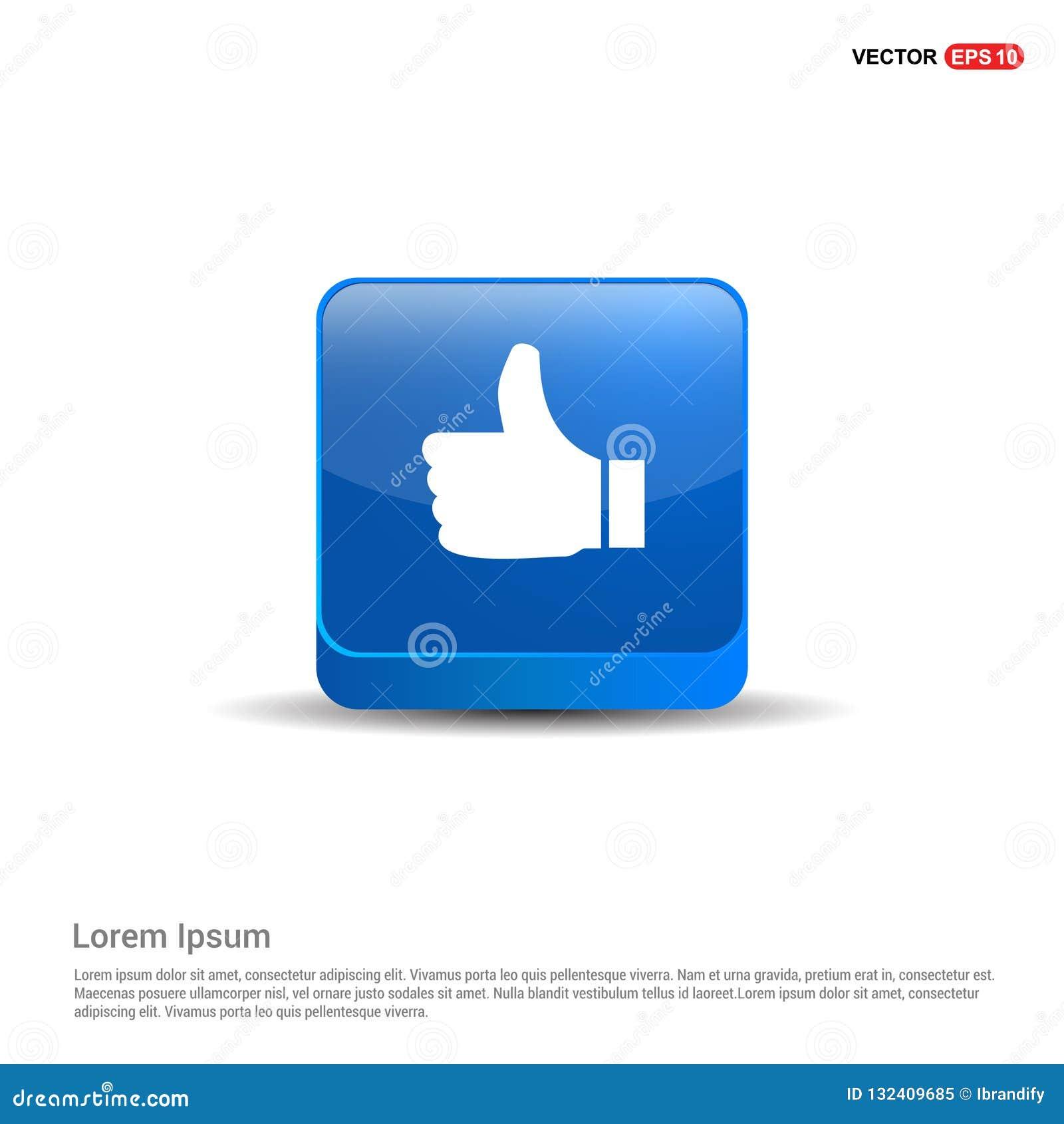 Como o ícone - botão do azul 3d