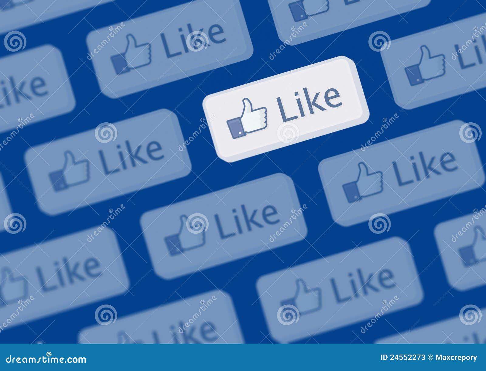 Como a parede do logotipo de Facebook