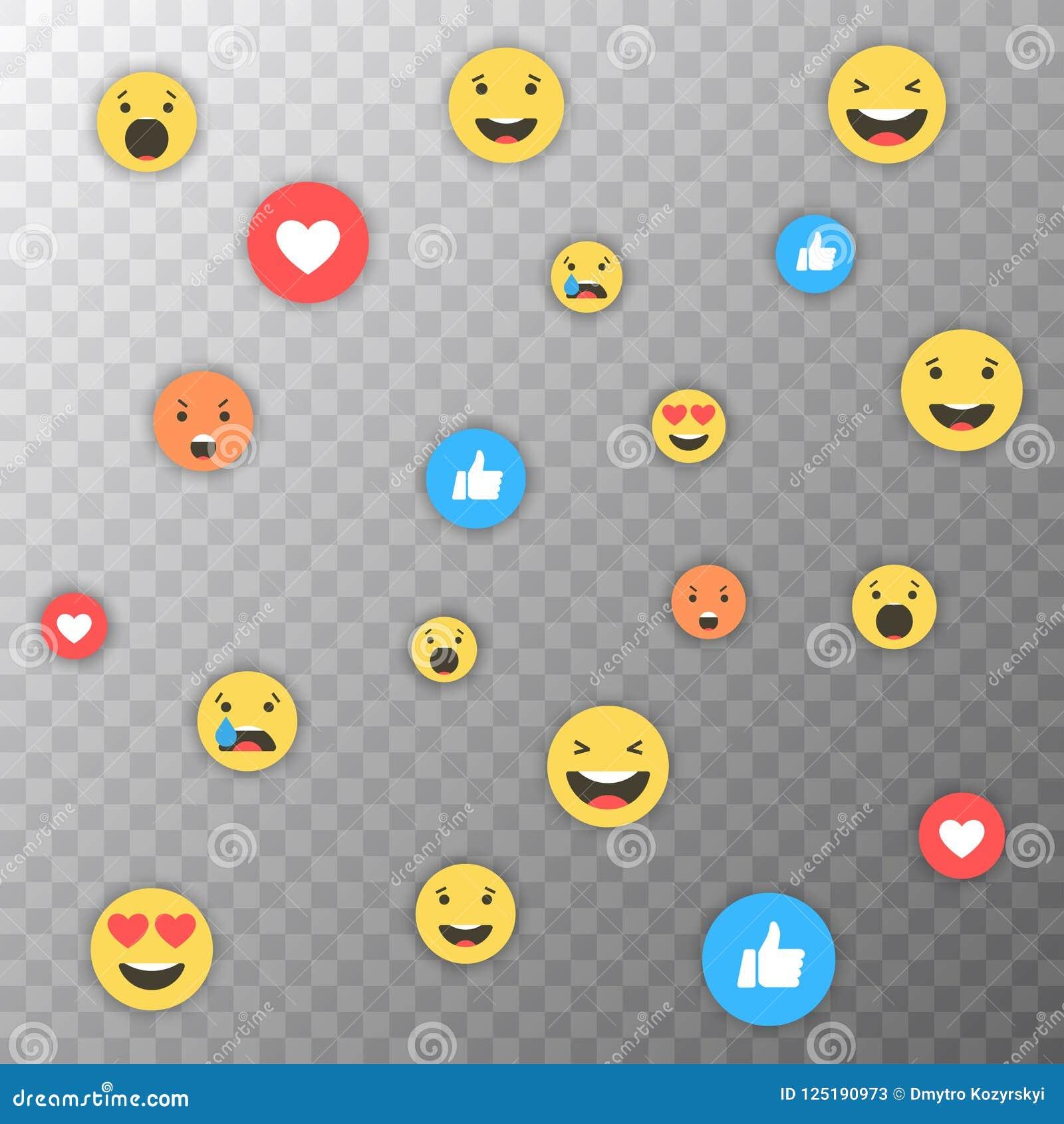 Como y del corazón y del emoji iconos Vídeo vivo de la corriente, charla, gustos, emoji Reacciones comprensivas de Emoji Redes so