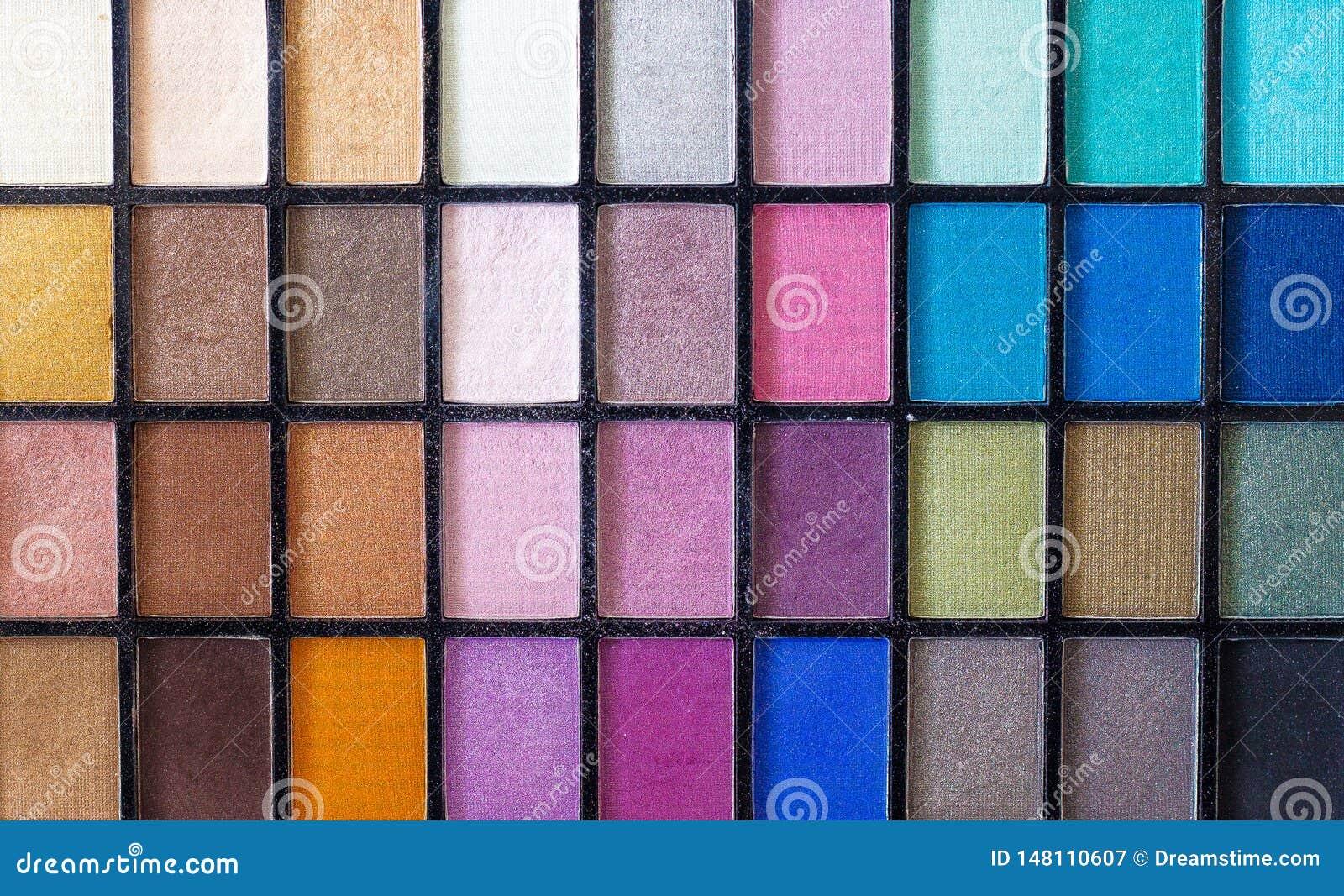 Compõe a pálete da cor com os detalhes agradáveis sobre as várias cores