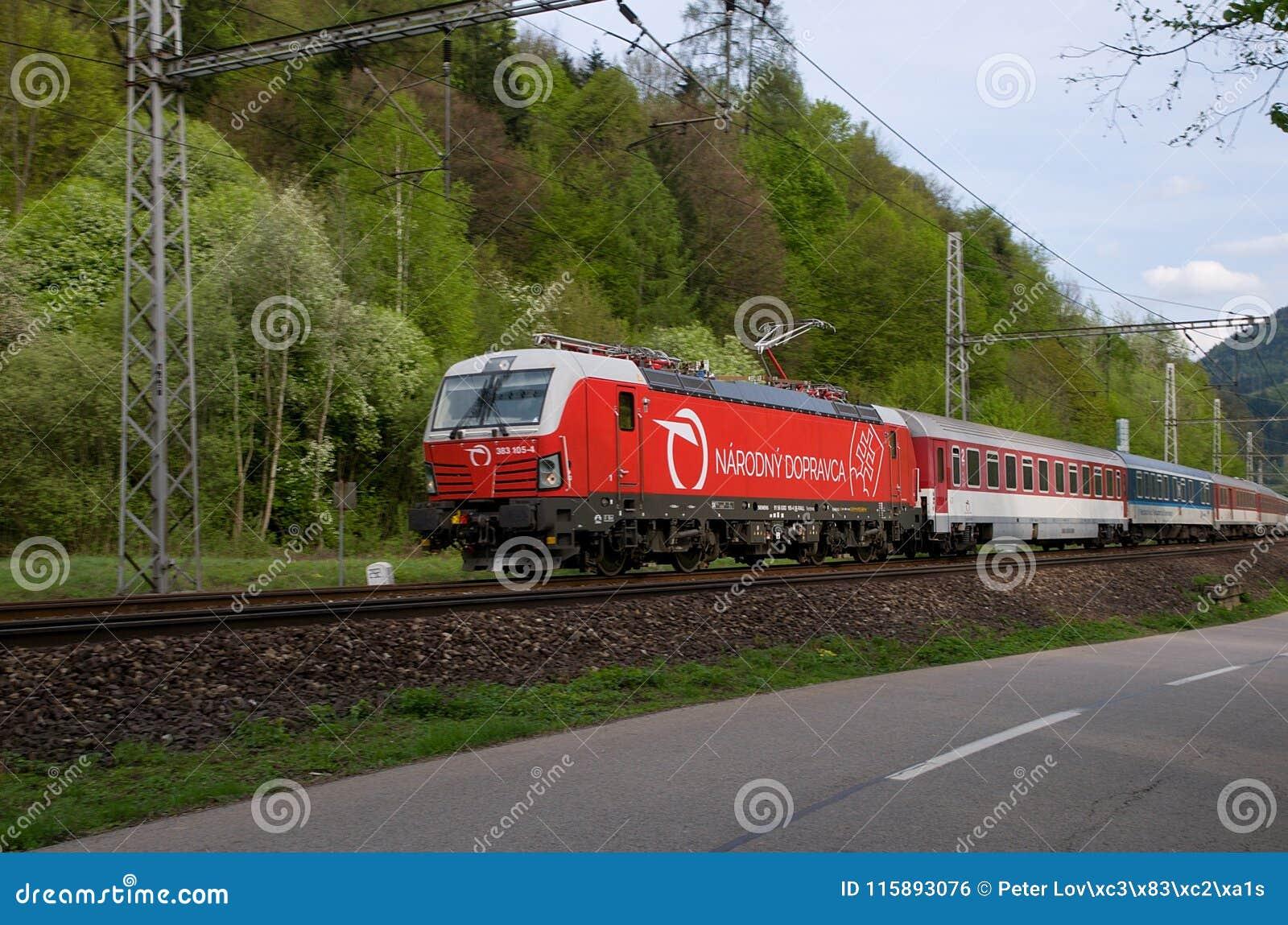 Compañía aérea de bandera de ferrocarriles eslovacos - Siemens locomotor
