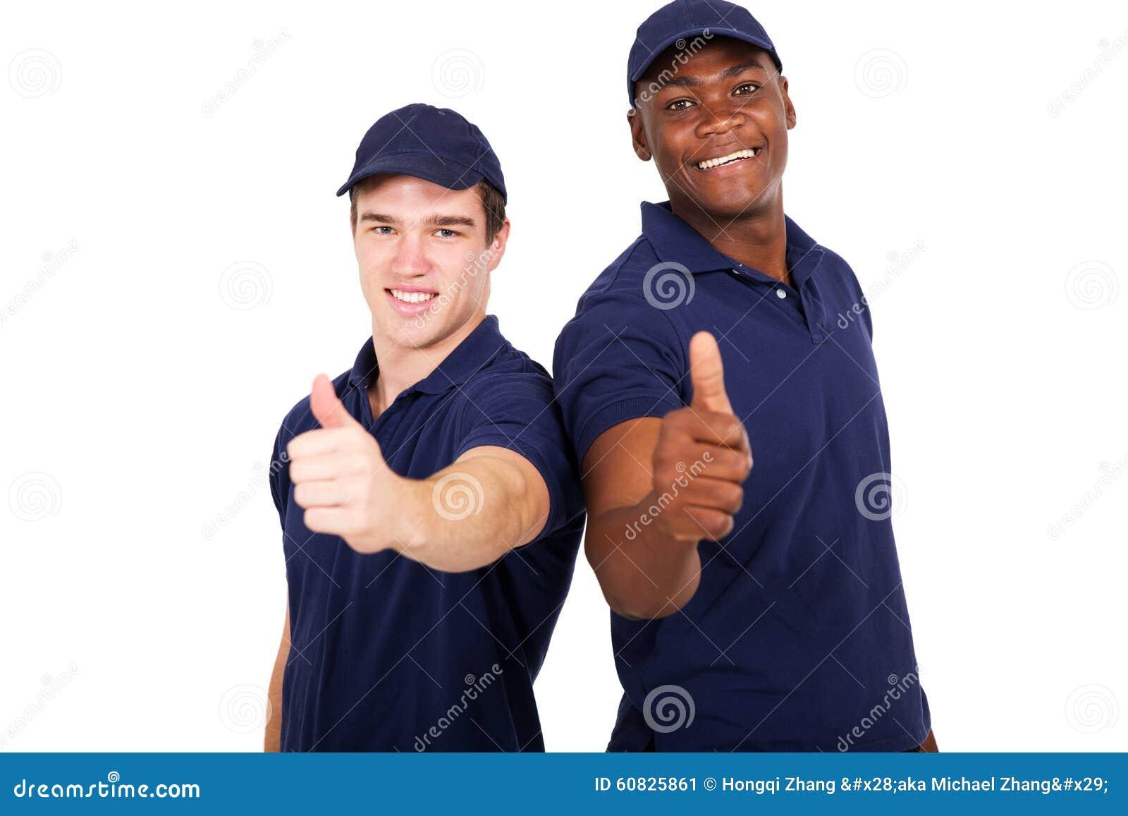 Compañeros de trabajo del cuello azul