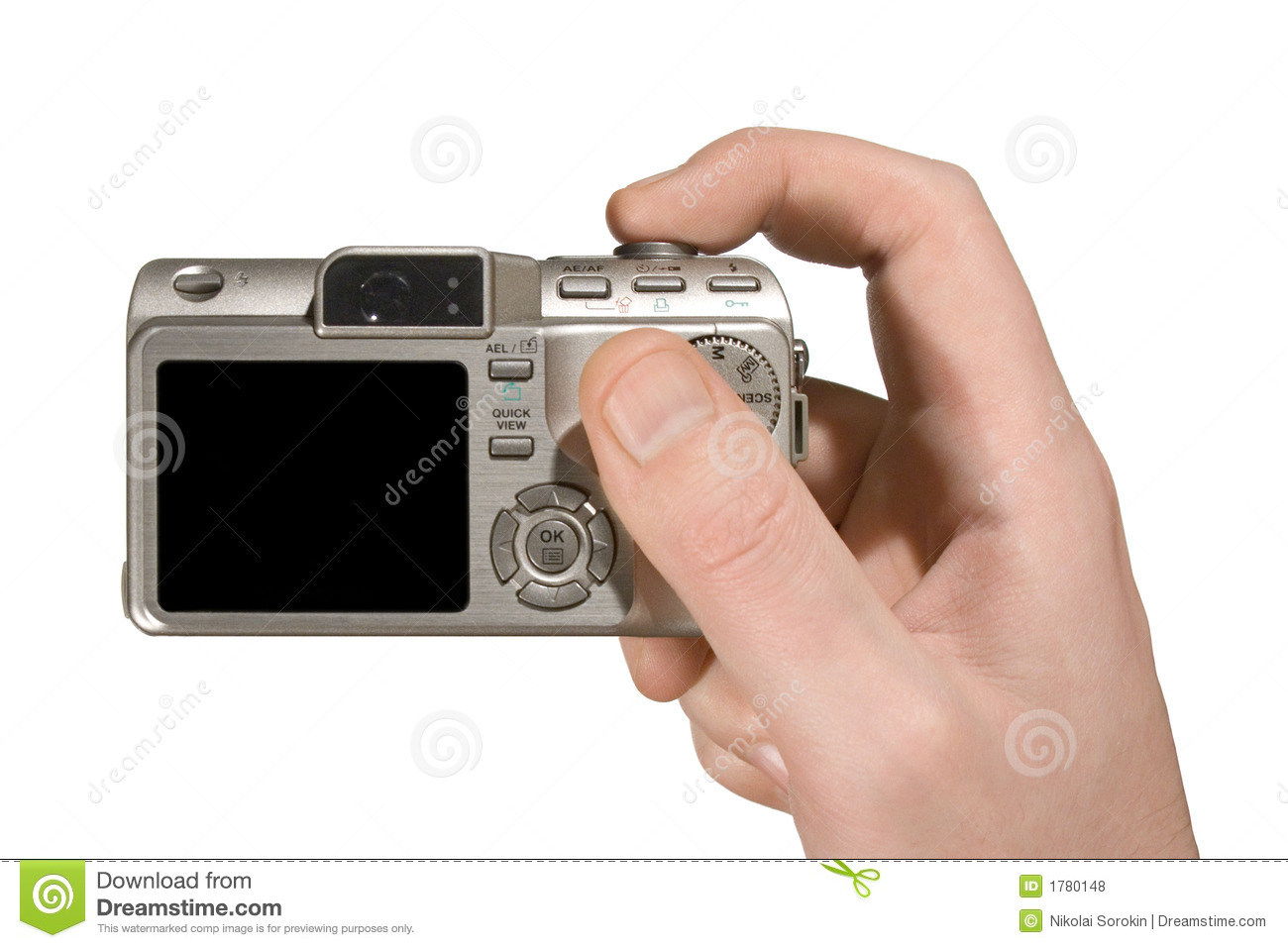 Compact camera in hand