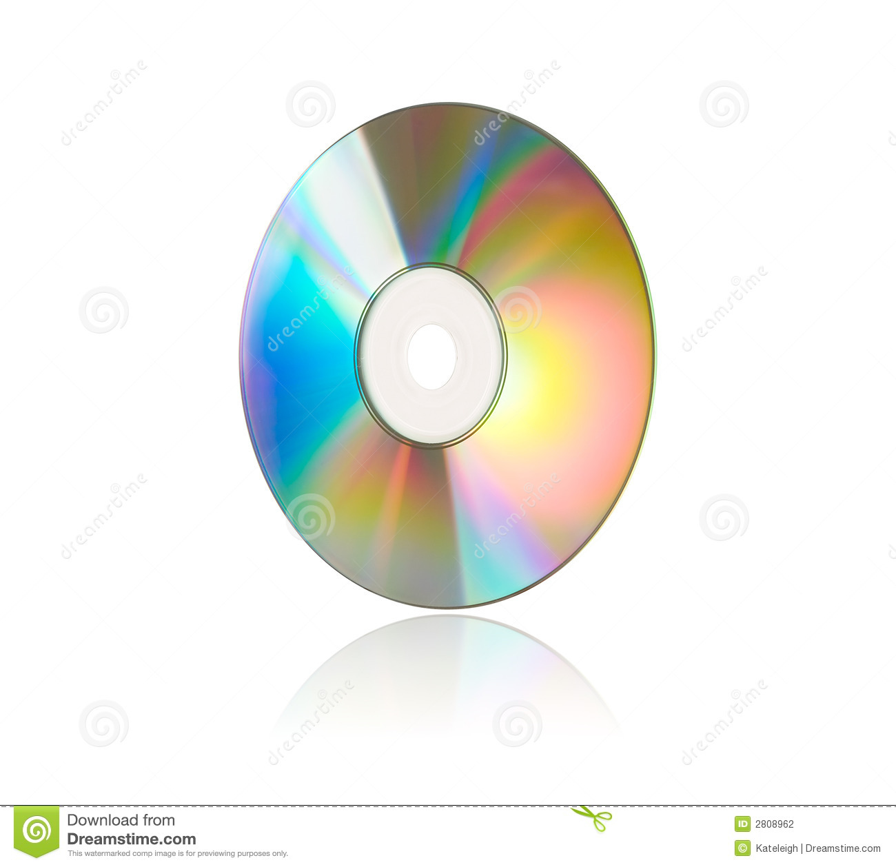 Compact Disc on White