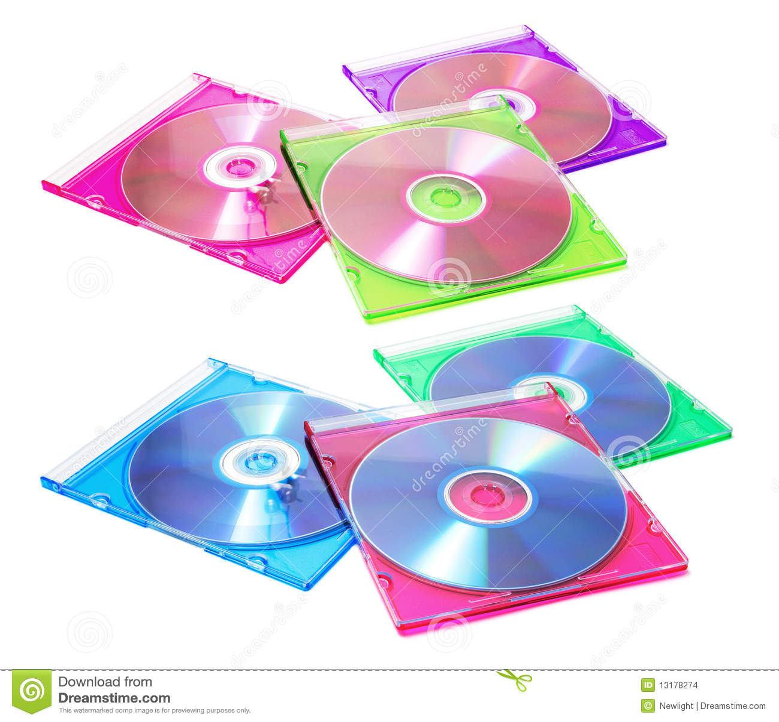 Compact-discs in Plastic Gevallen