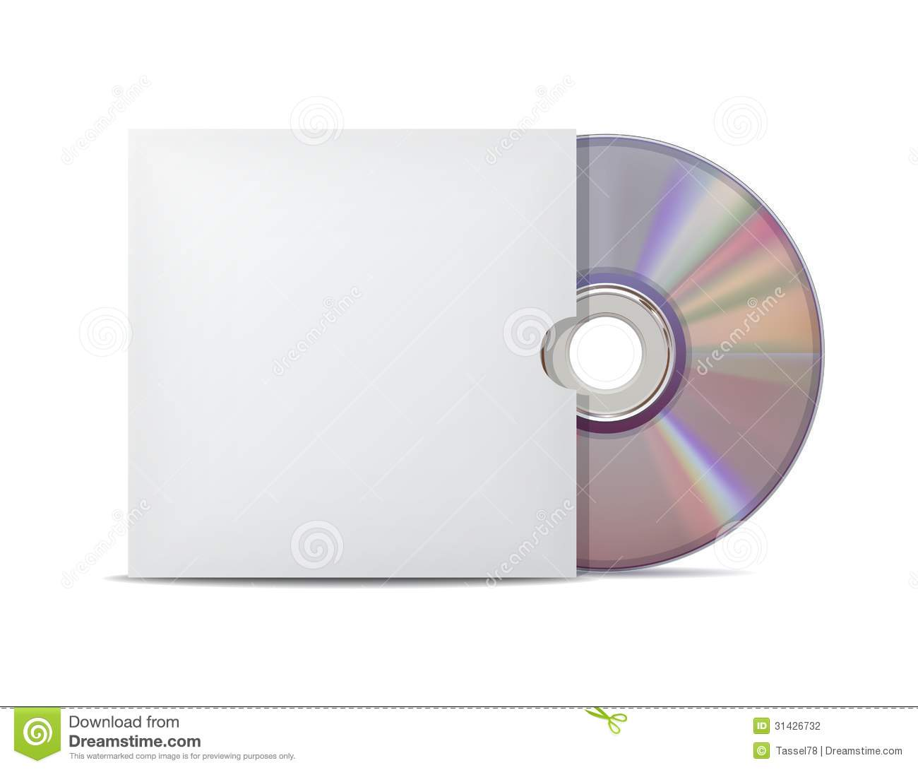 Compact Disk With Cover Stock Vector Image Of Isolated