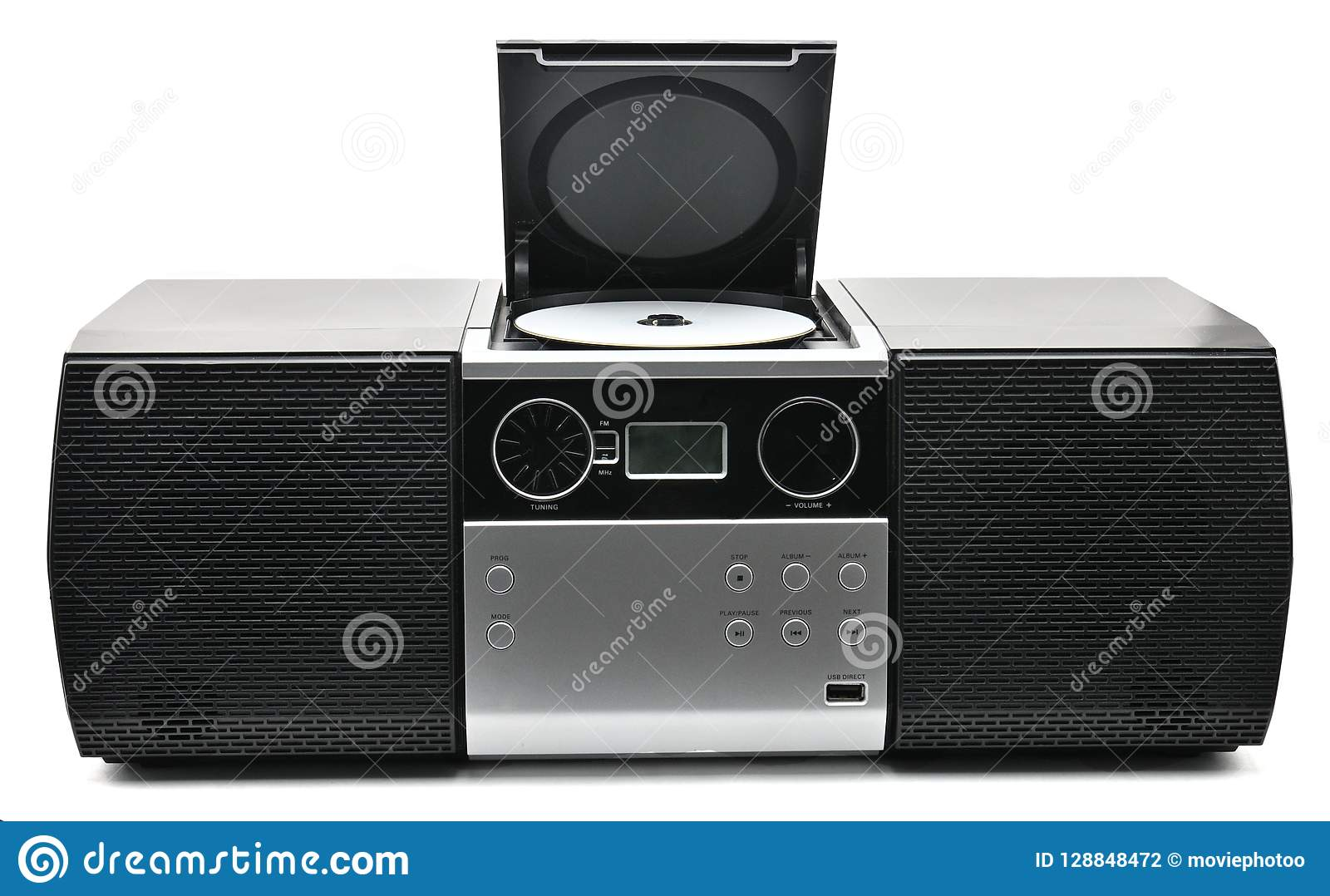 Compact Disc,usb And Radio Player Stock Photo - Image of high, dolby