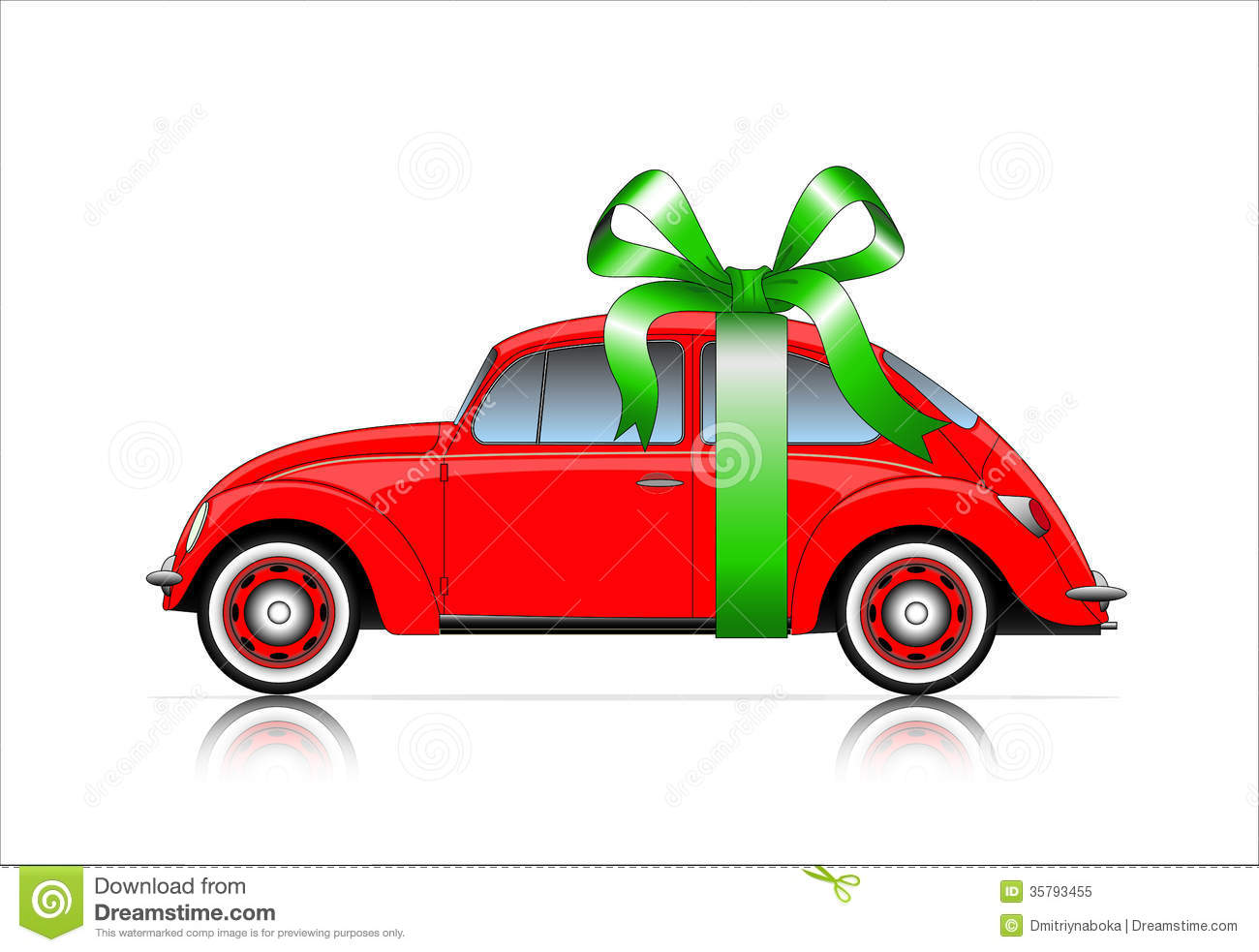 Expensive Car For Sale Or Gift Royalty Free Stock Image: Compact Red Car With Ribbon Royalty Free Stock Photo