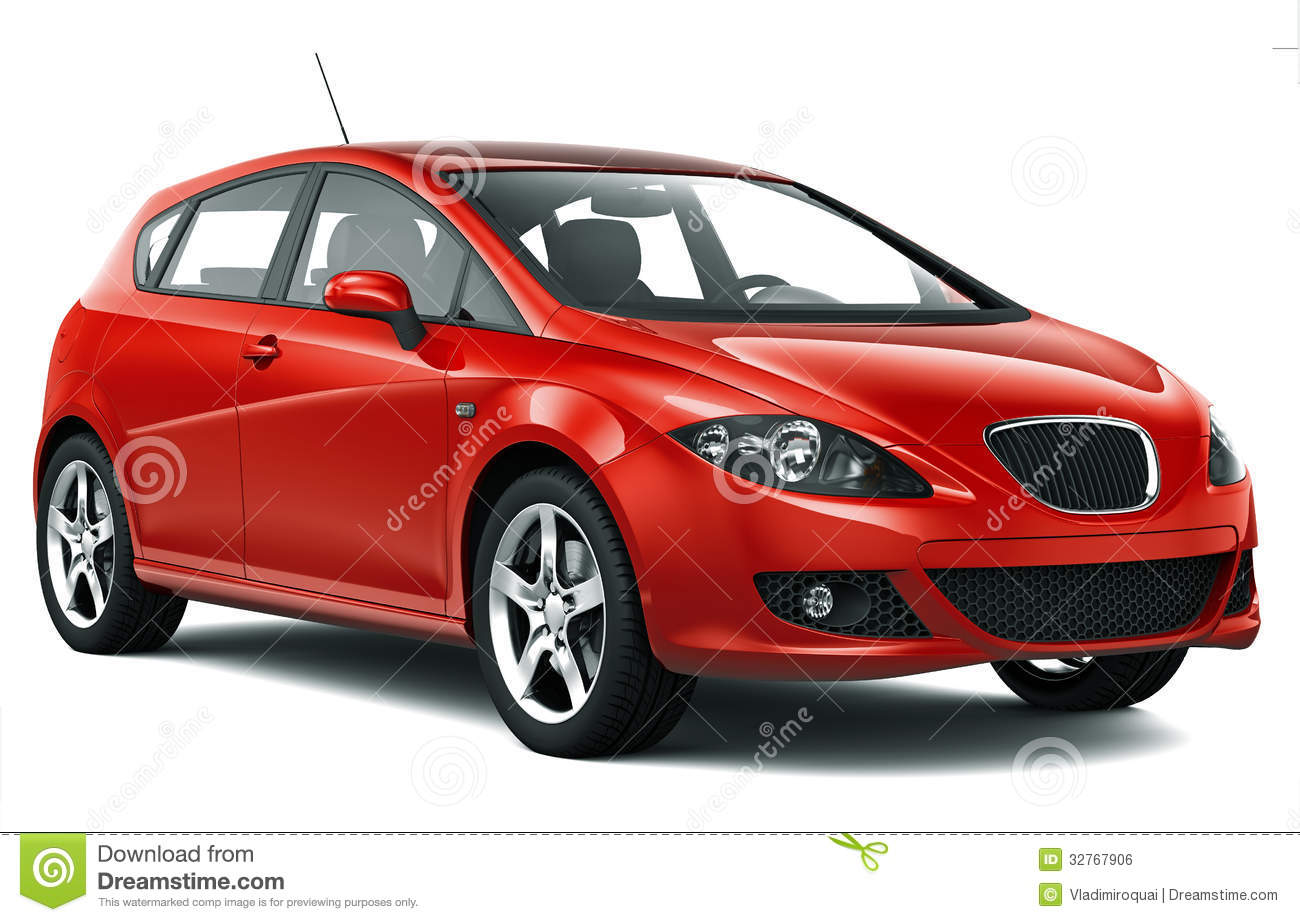 Compact Red Car Royalty Free Stock Image - Image: 32767906