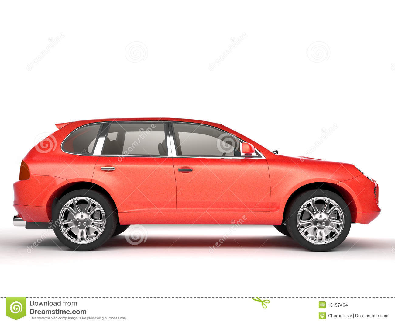 White Luxury Suv Side View Stock Image Image
