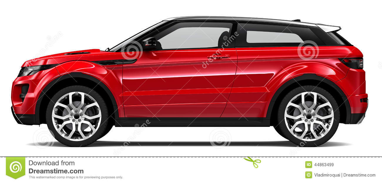 Compact Red Suv Stock Illustration Image