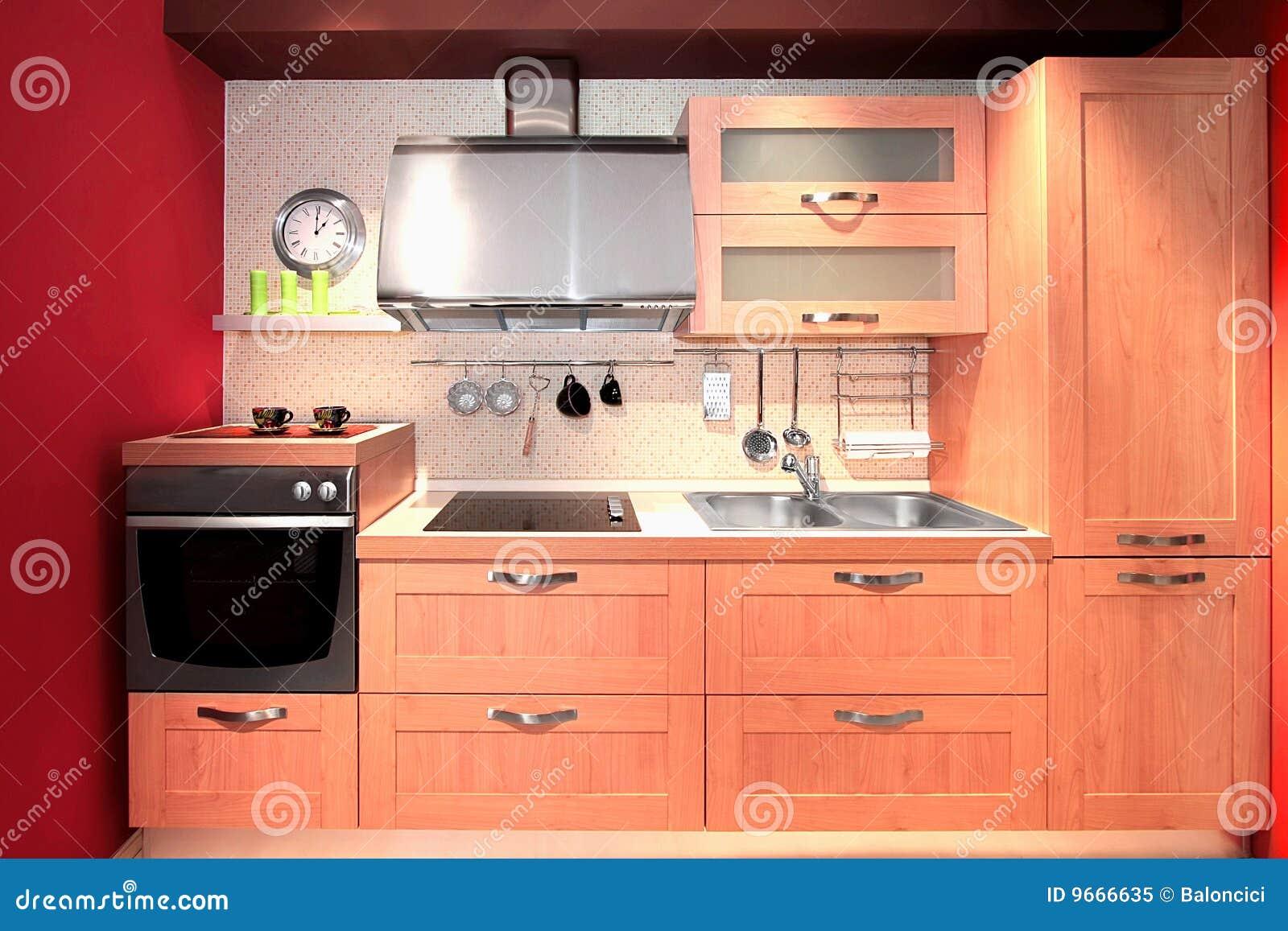 Compacte Design Keuken : Compacte Keuken Royalty-vrije Stock Foto – Afbeelding: 9666635